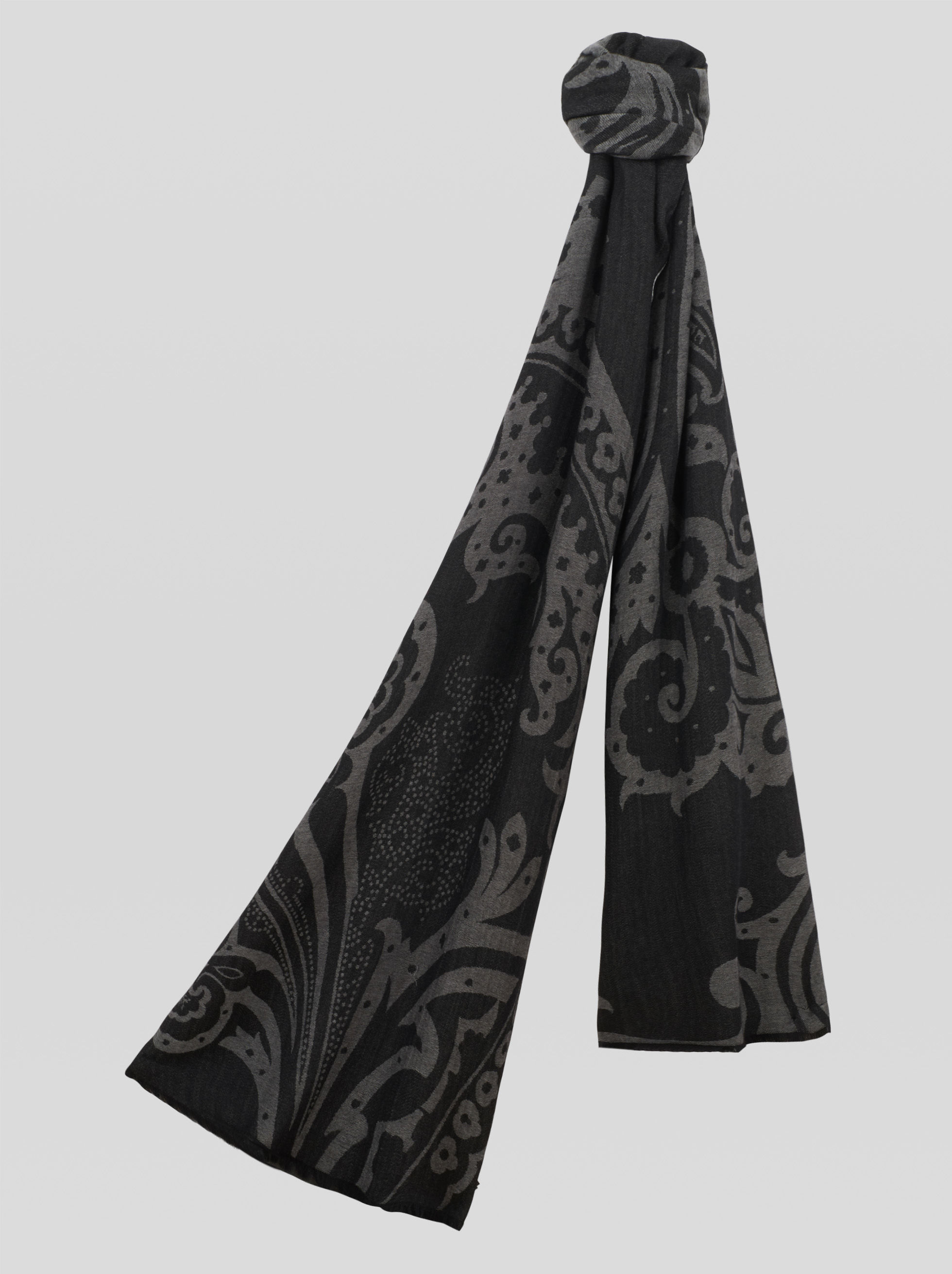 JACQUARD SCARF WITH PAISLEY PATTERNS