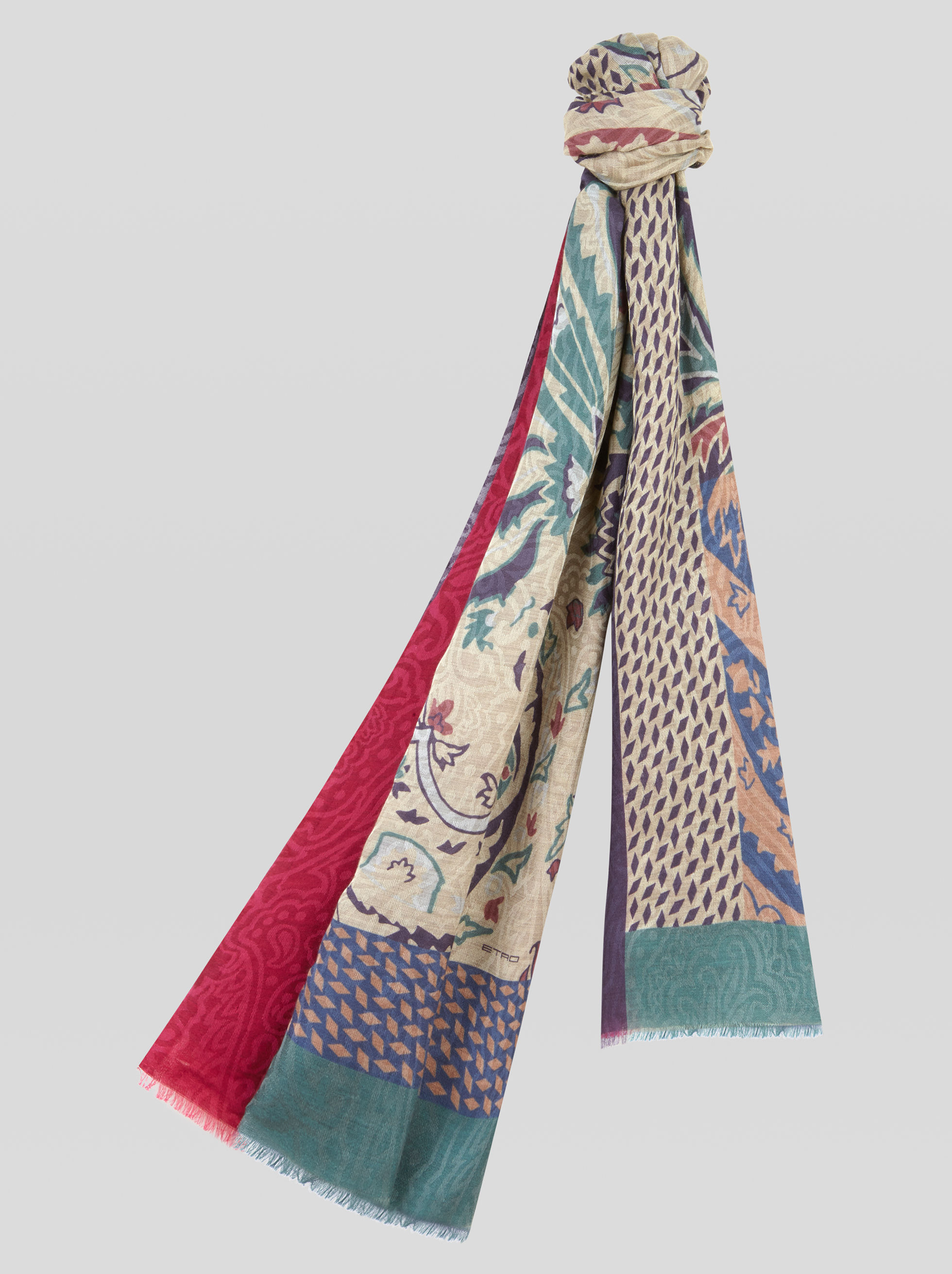 CASHMERE AND SILK JACQUARD SCARF