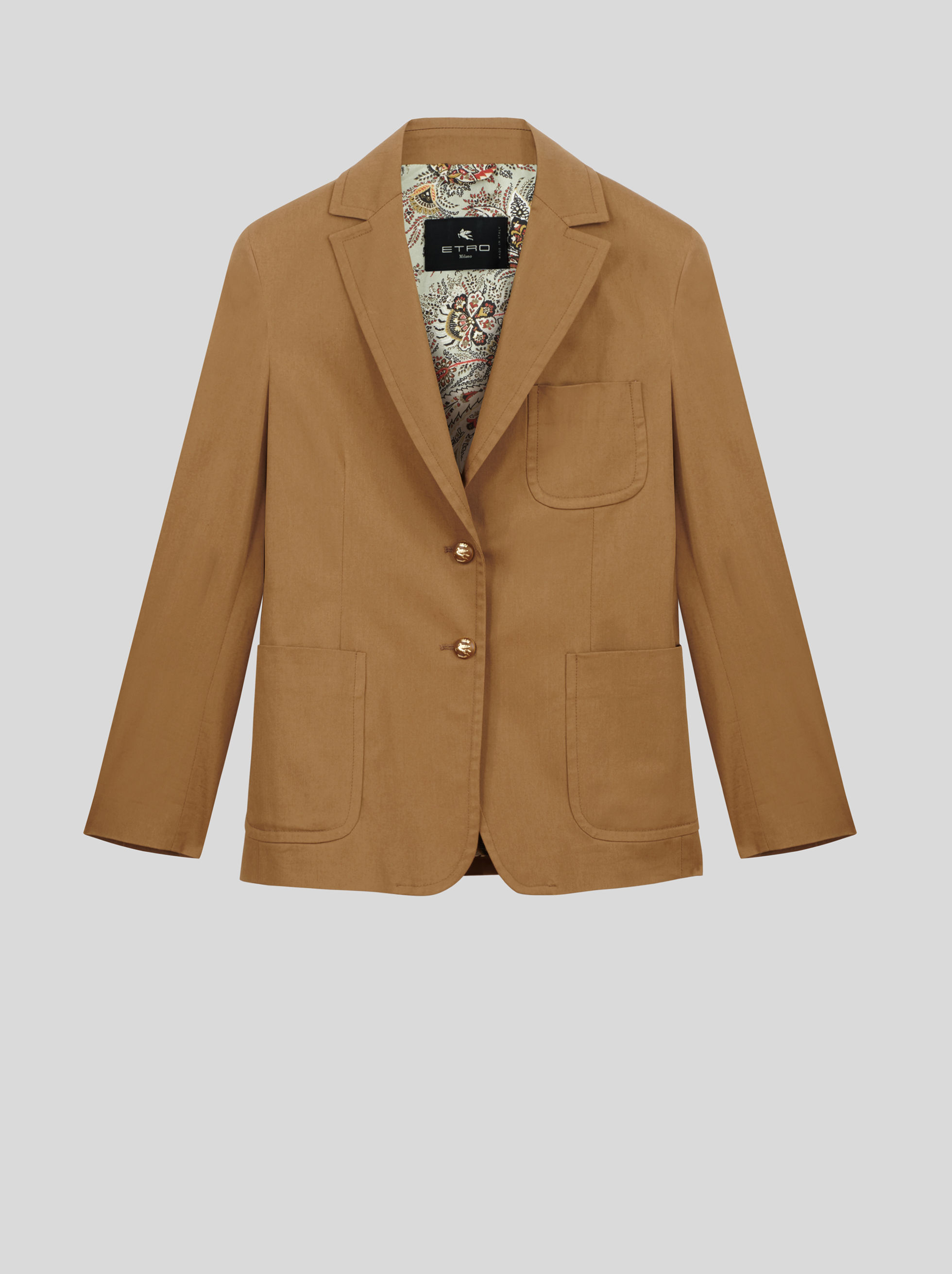 COTTON JACKET WITH PEGASO BUTTONS