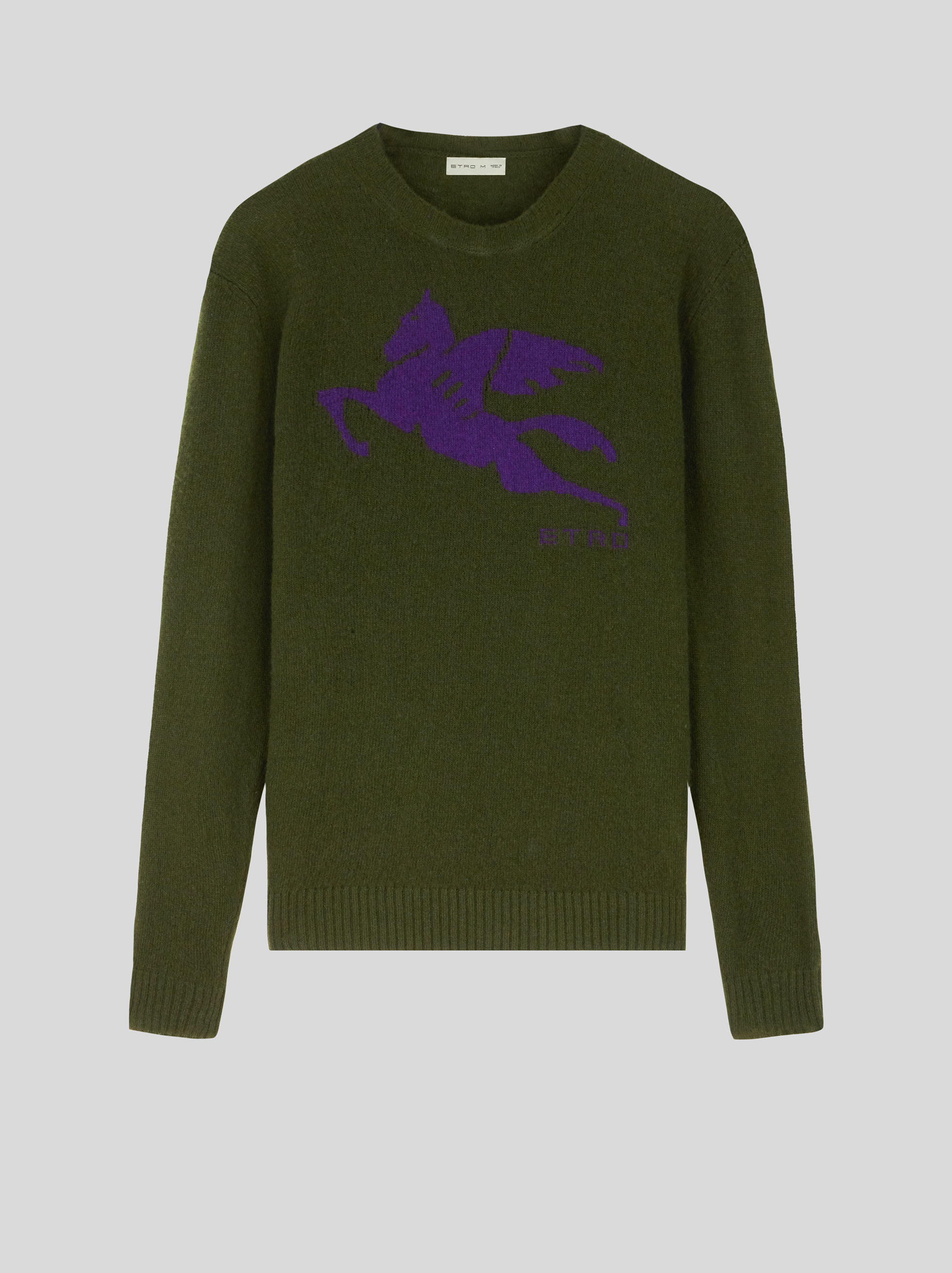 WOOL JUMPER WITH INLAID PEGASO