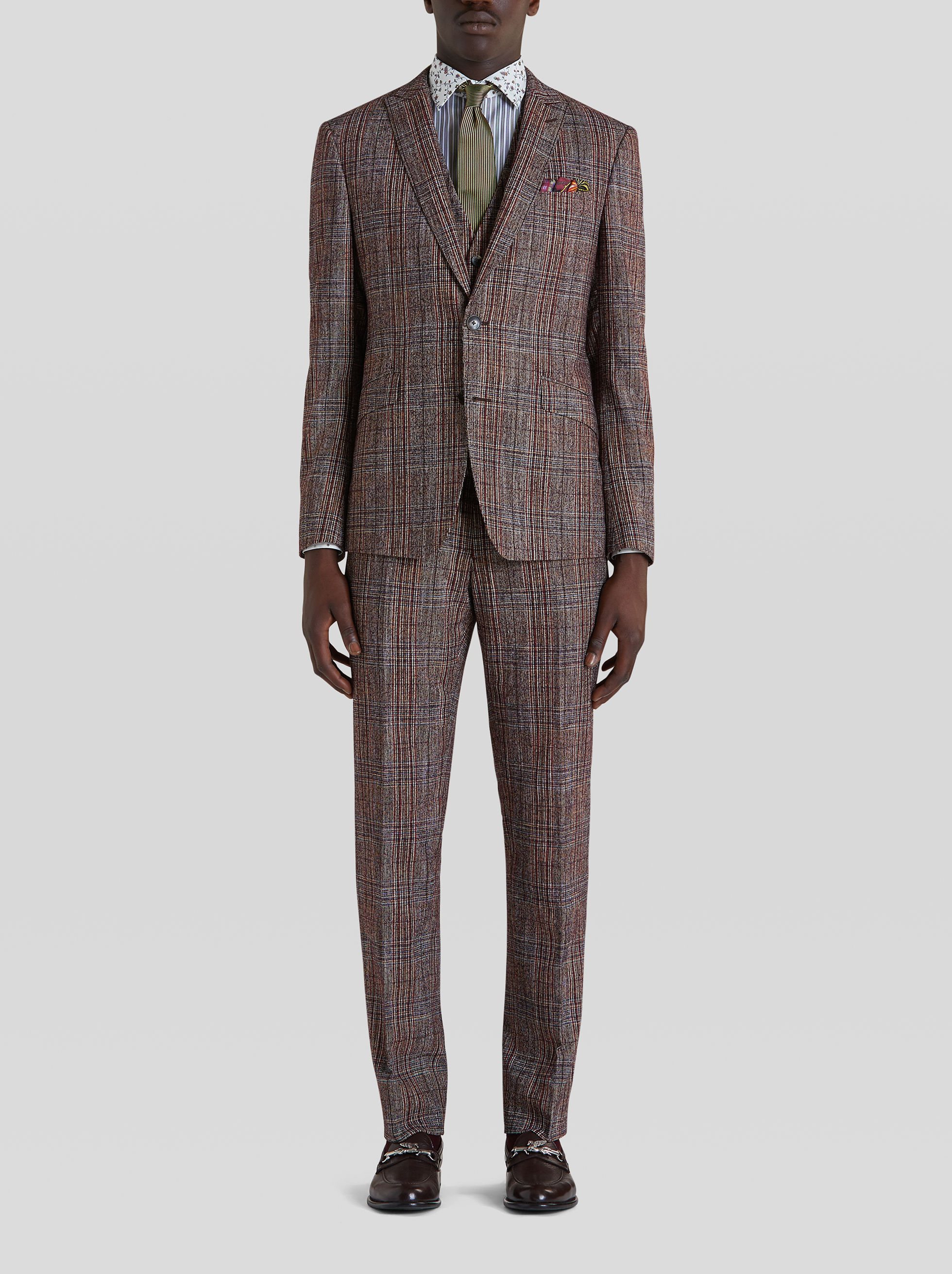 THREE-PIECE PRINCE OF WALES CHECK SUIT