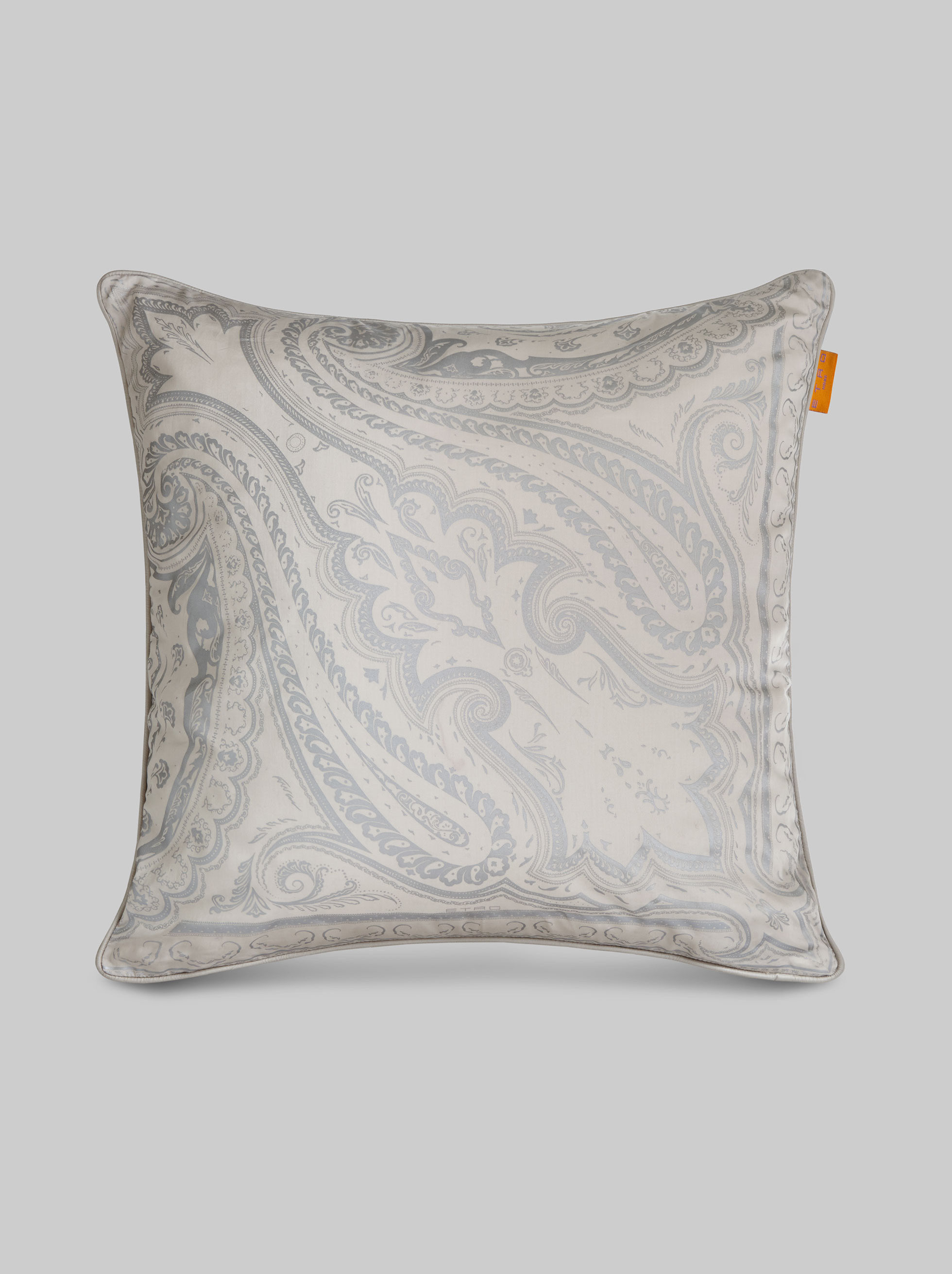 SATIN CUSHION WITH PAISLEY DESIGNS
