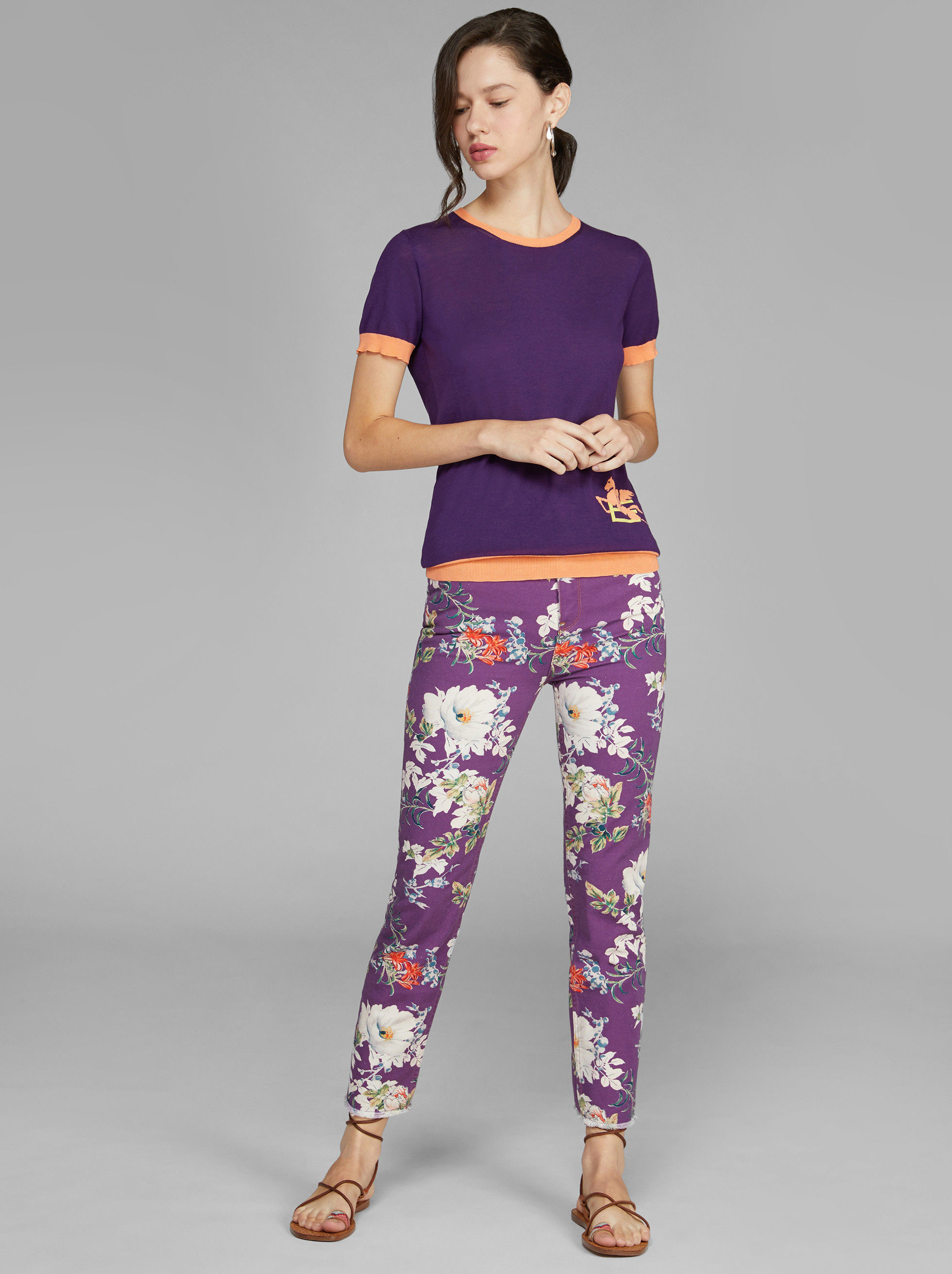 FLORAL PRINT JEANS by Etro, available on etro.com Bella Hadid Pants SIMILAR PRODUCT