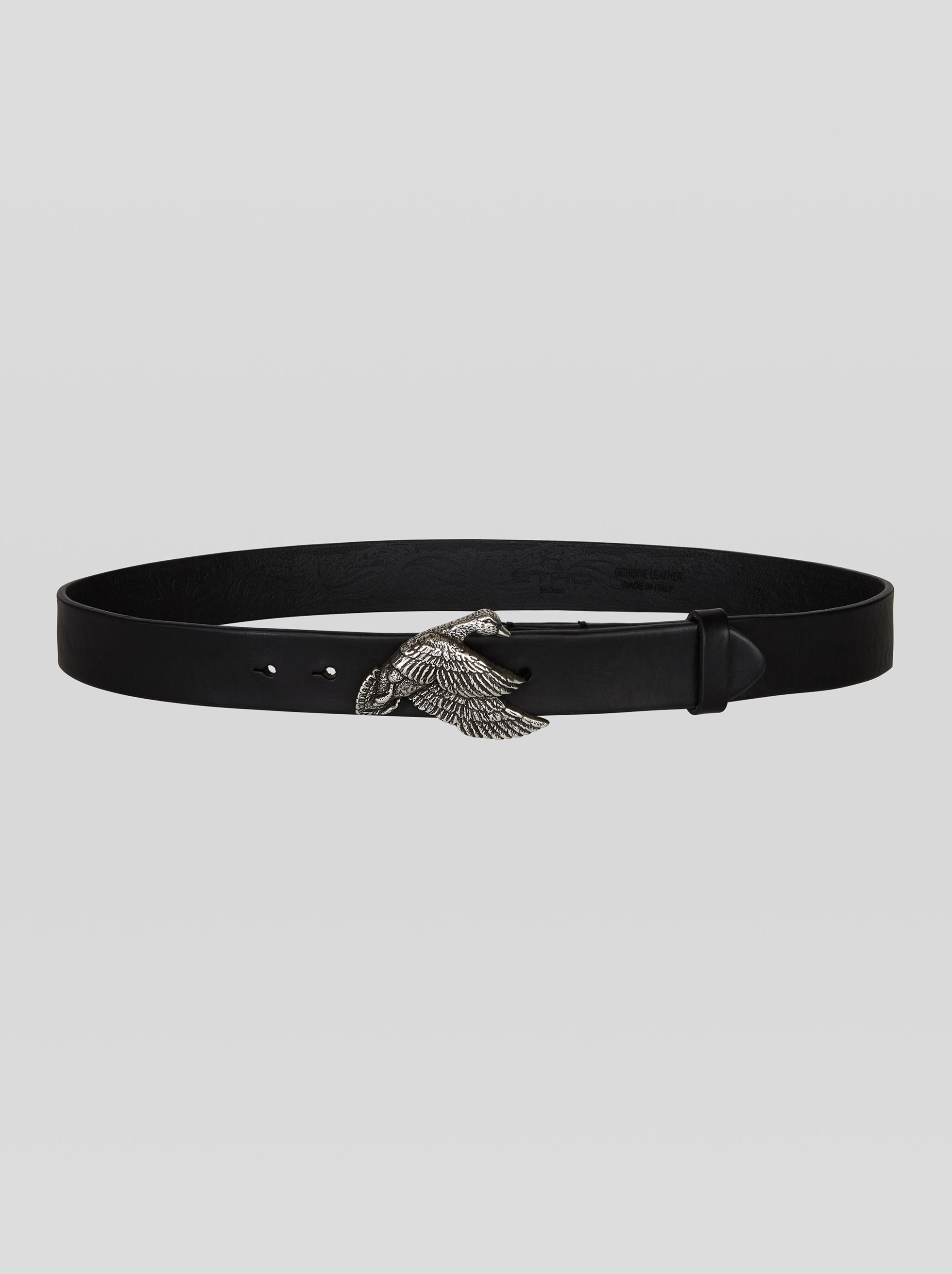 LEATHER BELT WITH DUCK BUCKLE
