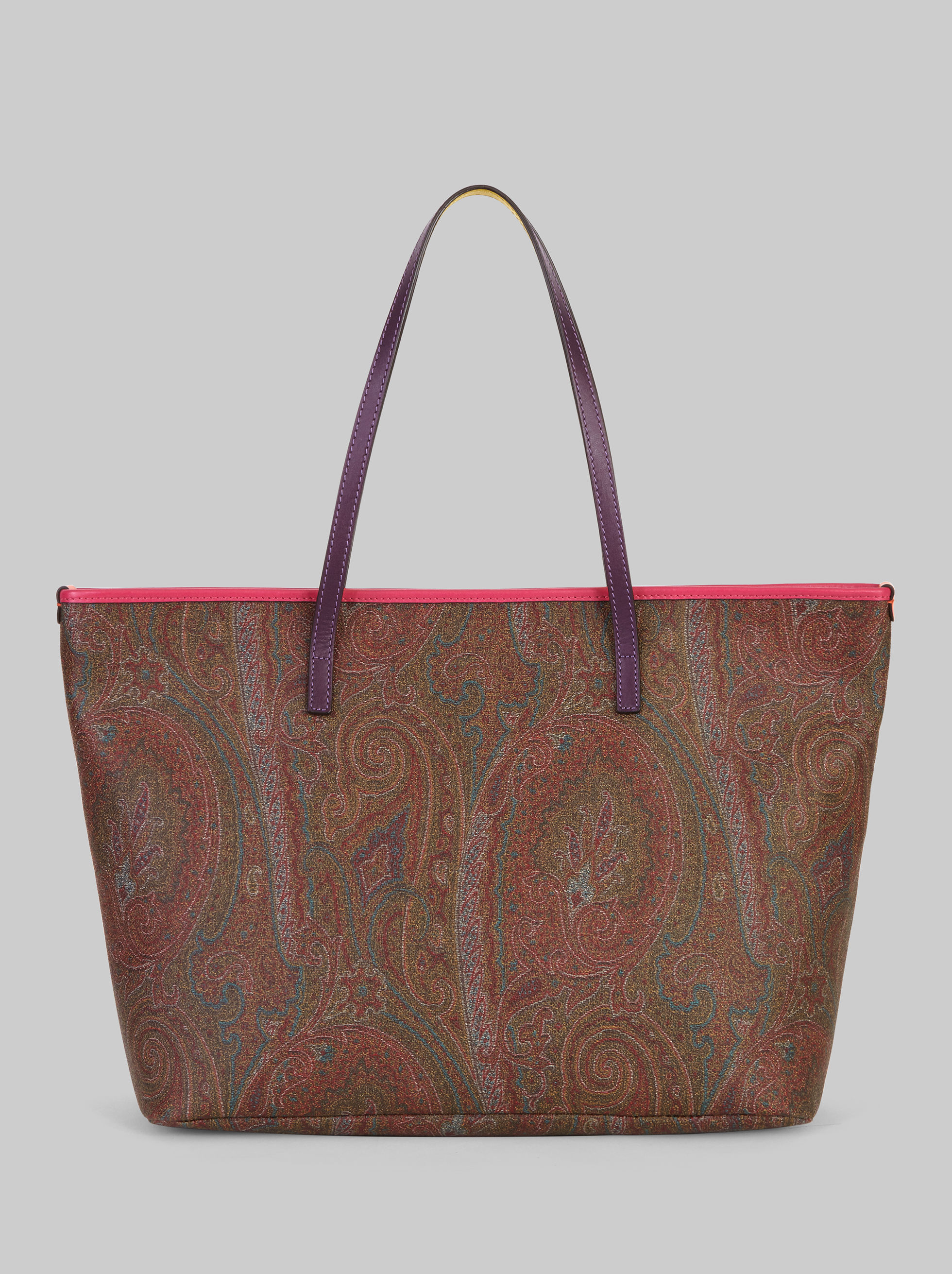 SHOPPING PAISLEY CON DETTAGLI MULTICOLOR