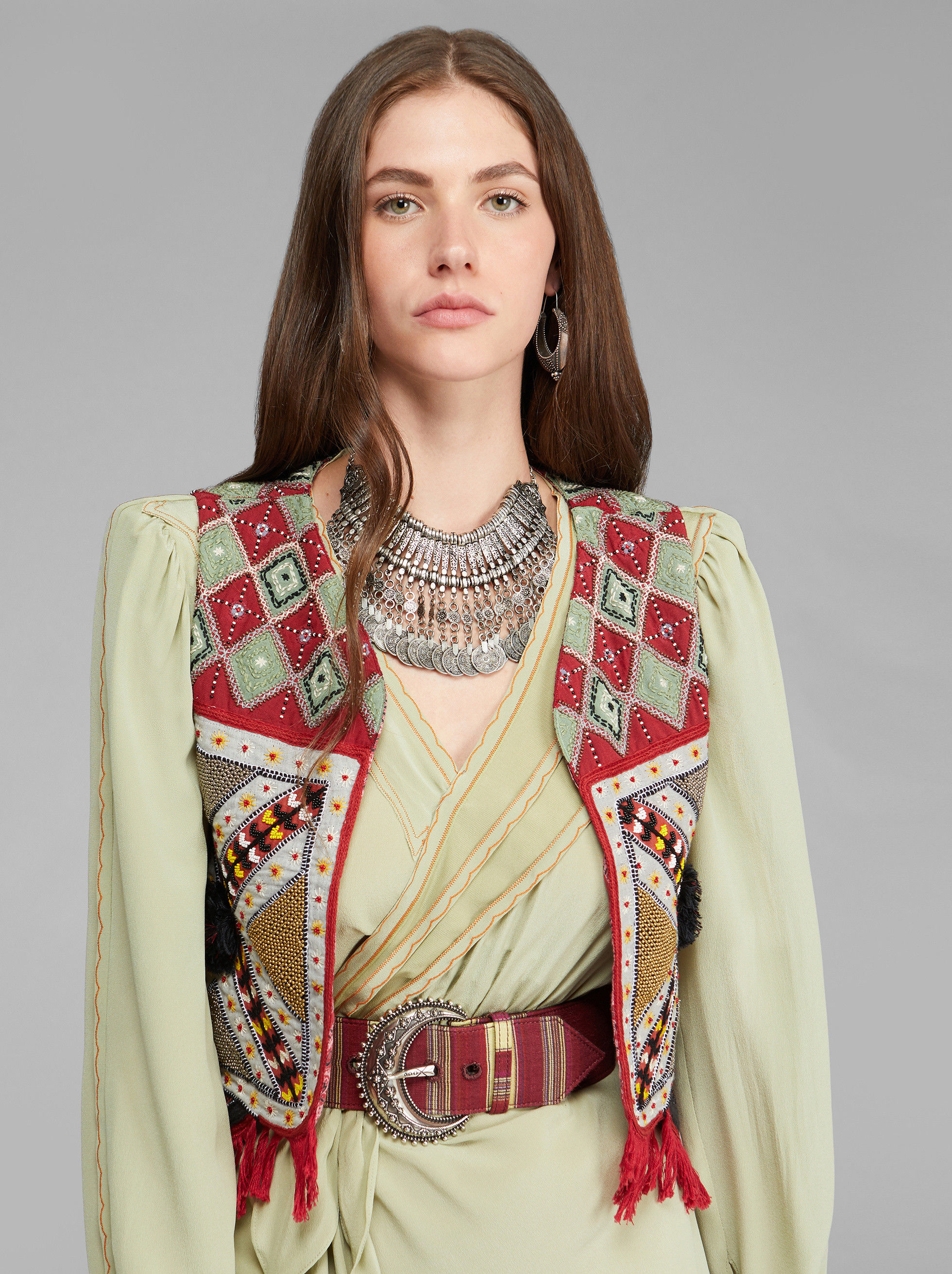 EMBROIDERED GILET
