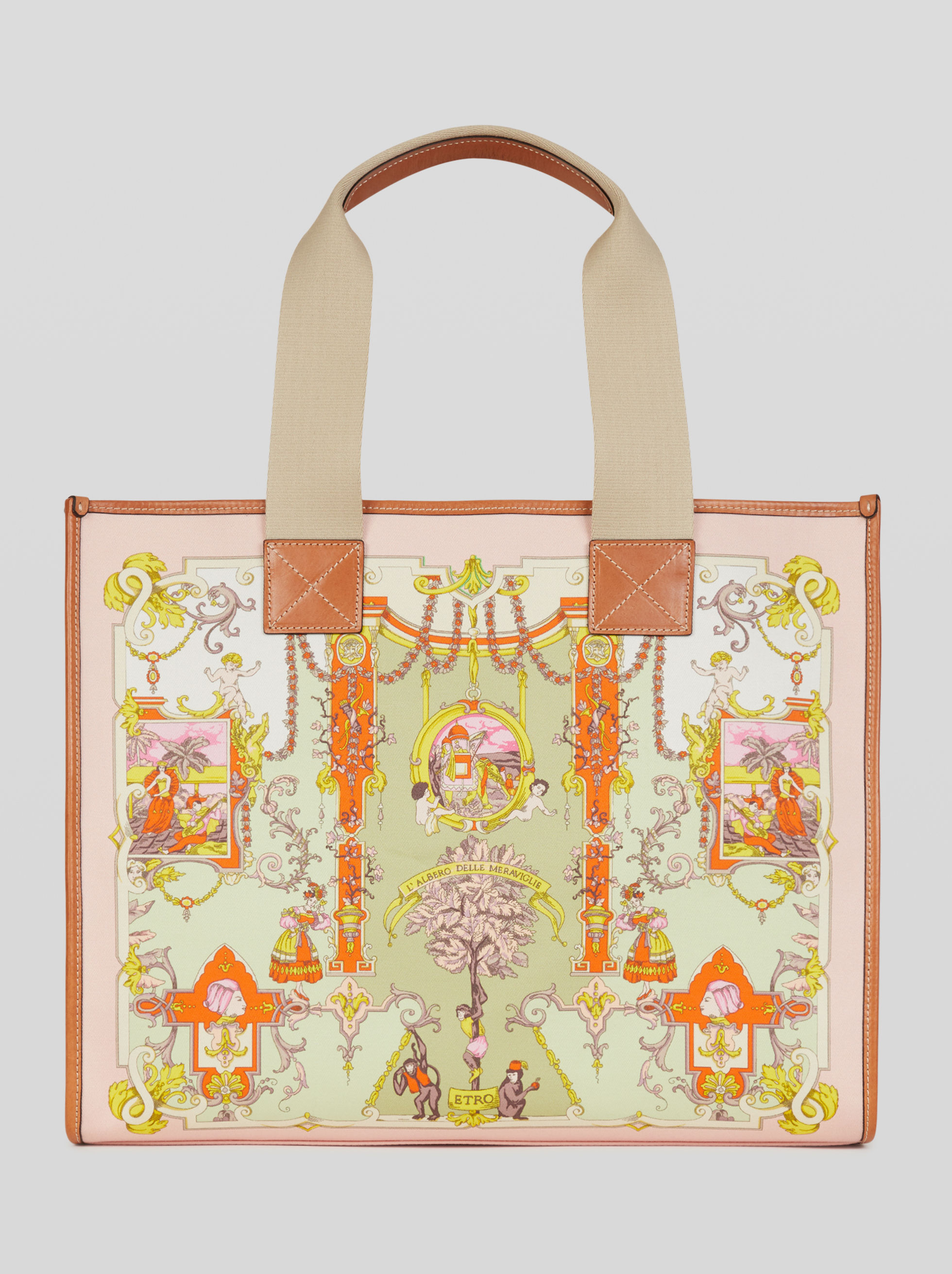 ORNAMENTAL PRINT SHOPPING BAG