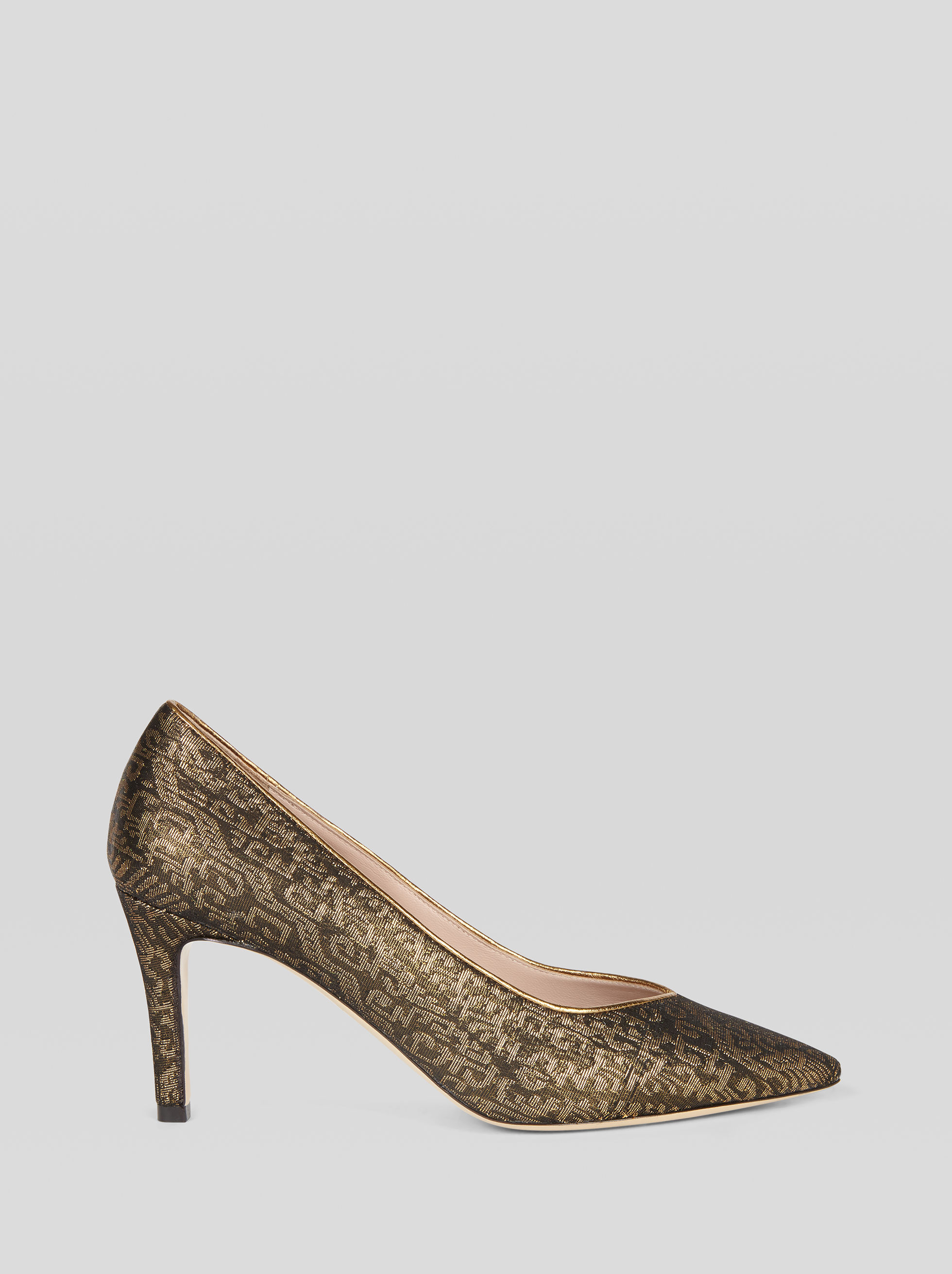 JACQUARD FABRIC COURT SHOE