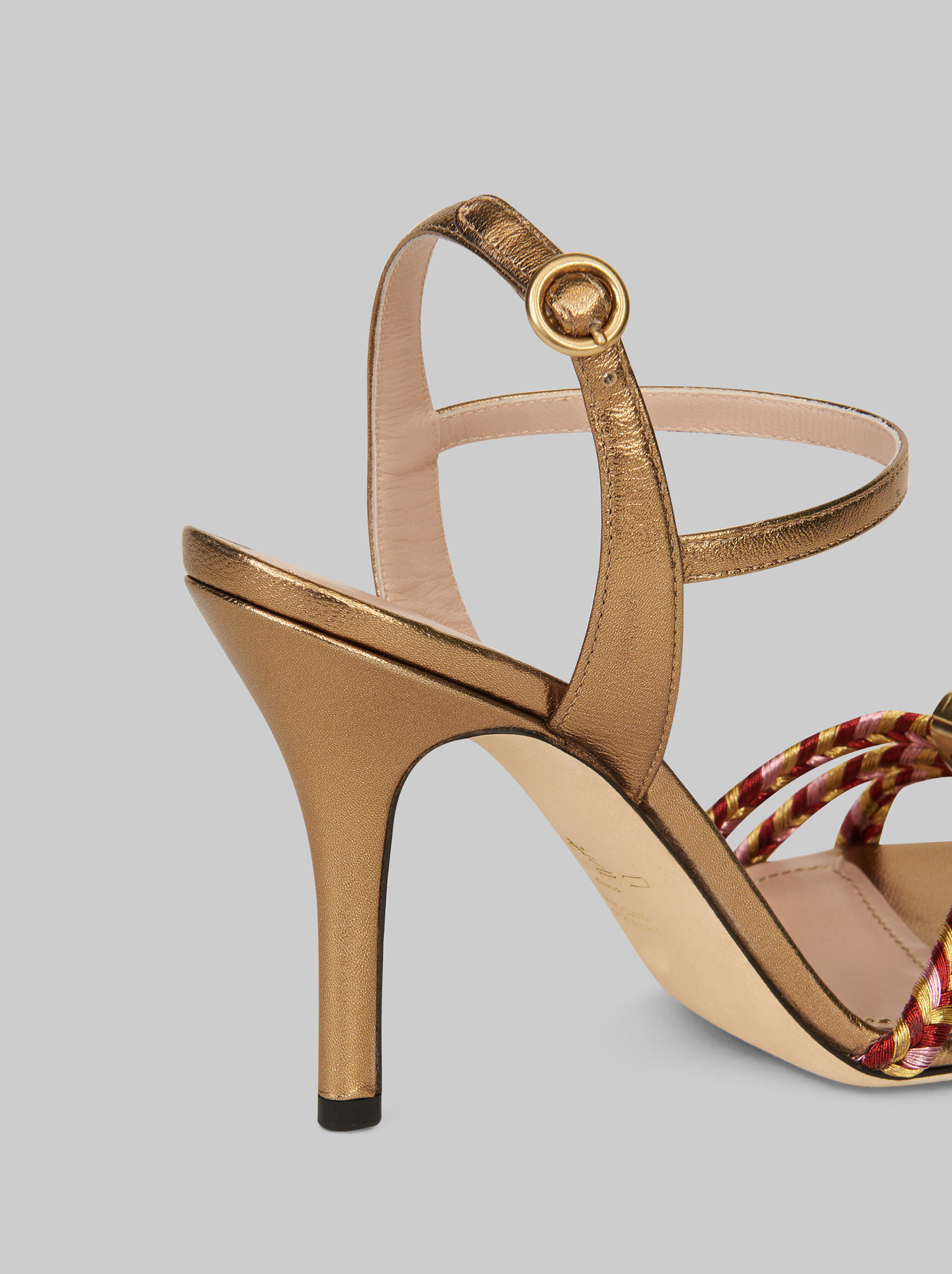 BRAIDED SANDALS WITH JEWEL DETAILING