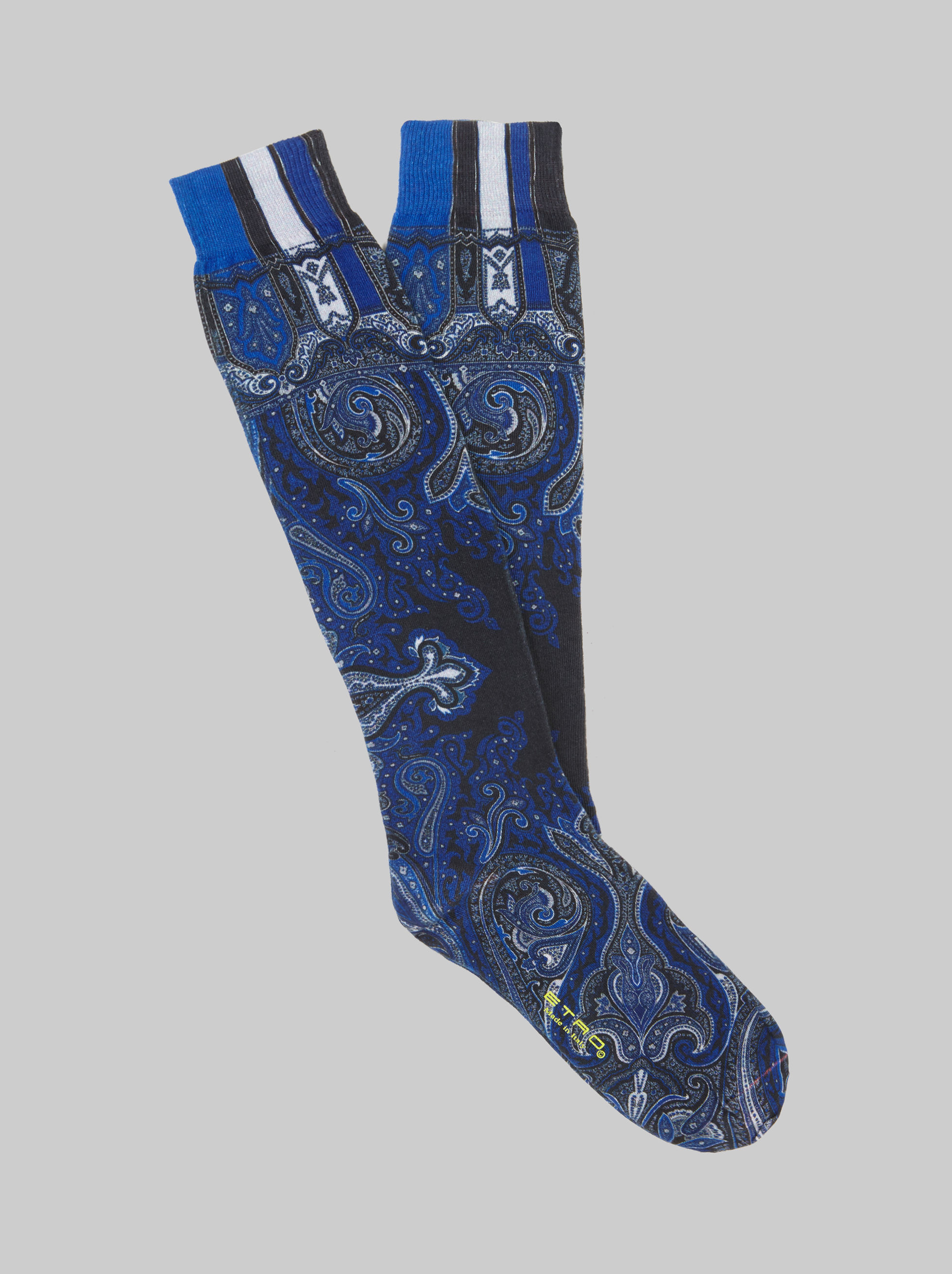 PAISLEY-PRINT LONG SOCKS