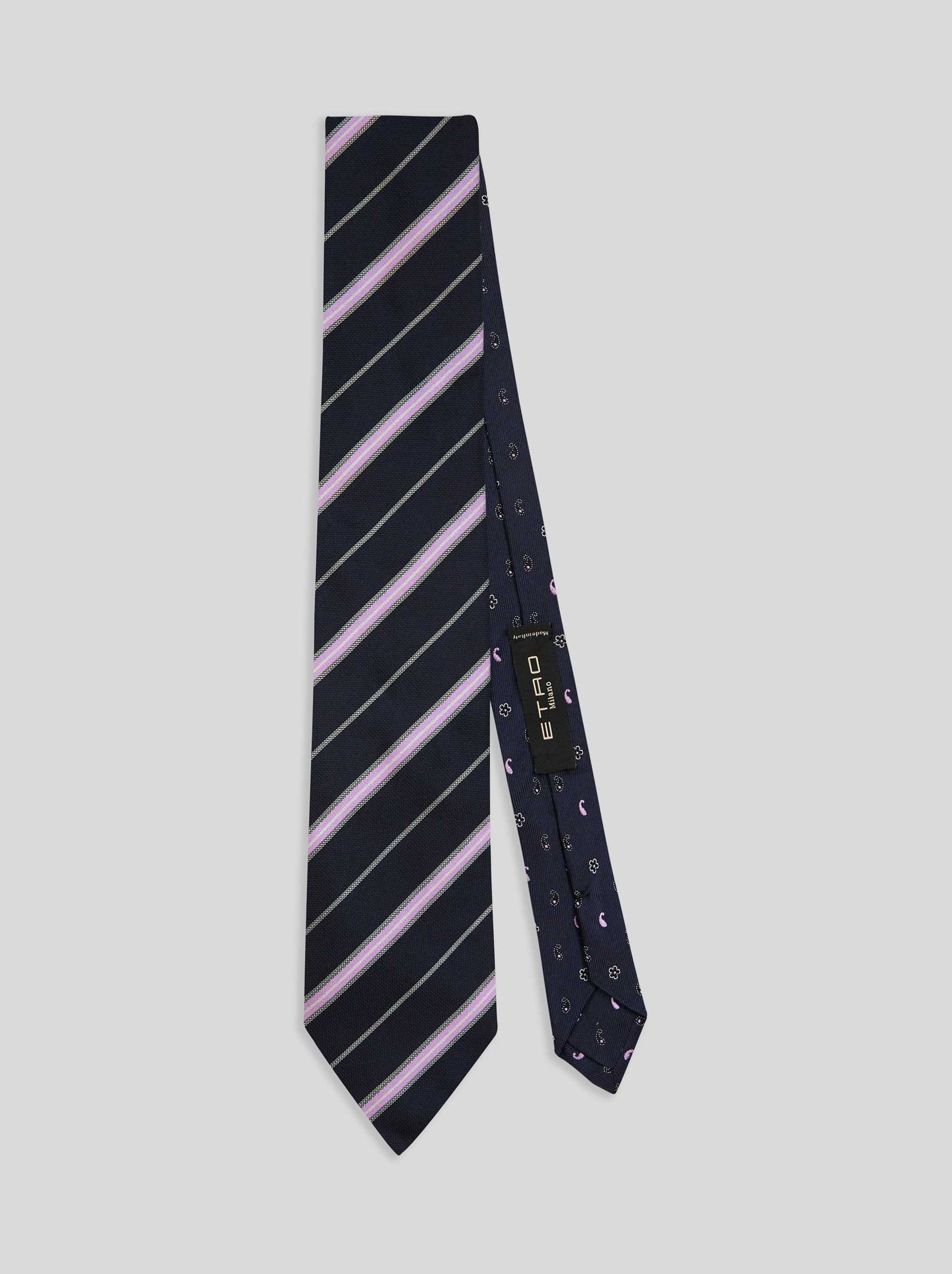 TWO-FABRIC REGIMENTAL TIE