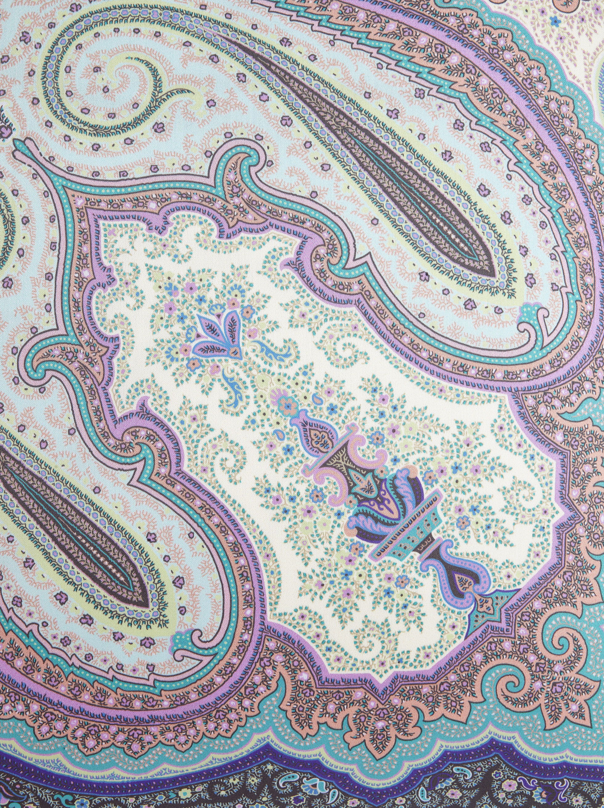 PAISLEY PRINT SATIN CUSHION