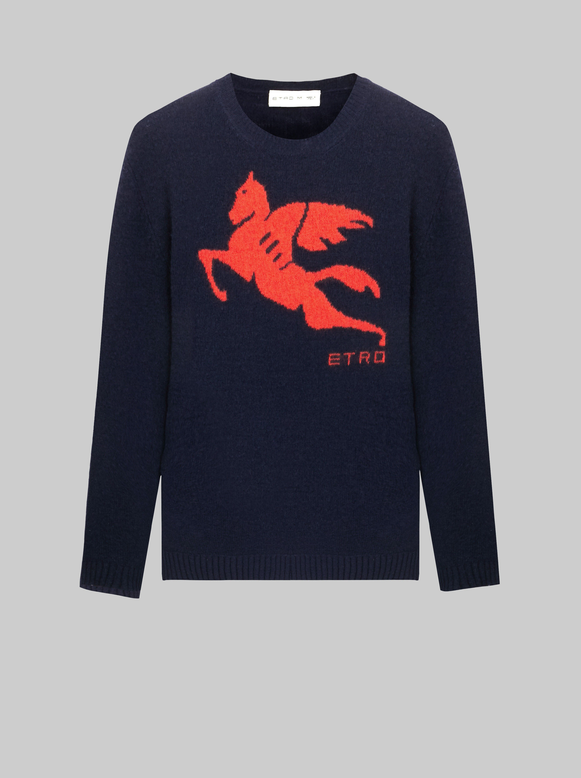 CREWNECK JUMPER WITH PEGASO LOGO