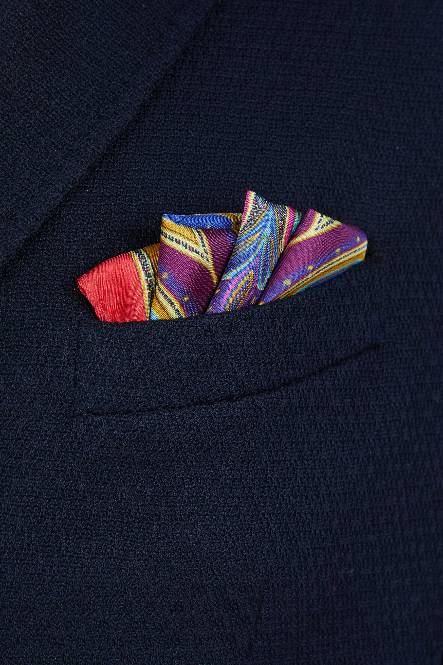 DUCK PRINT POCKET SQUARE