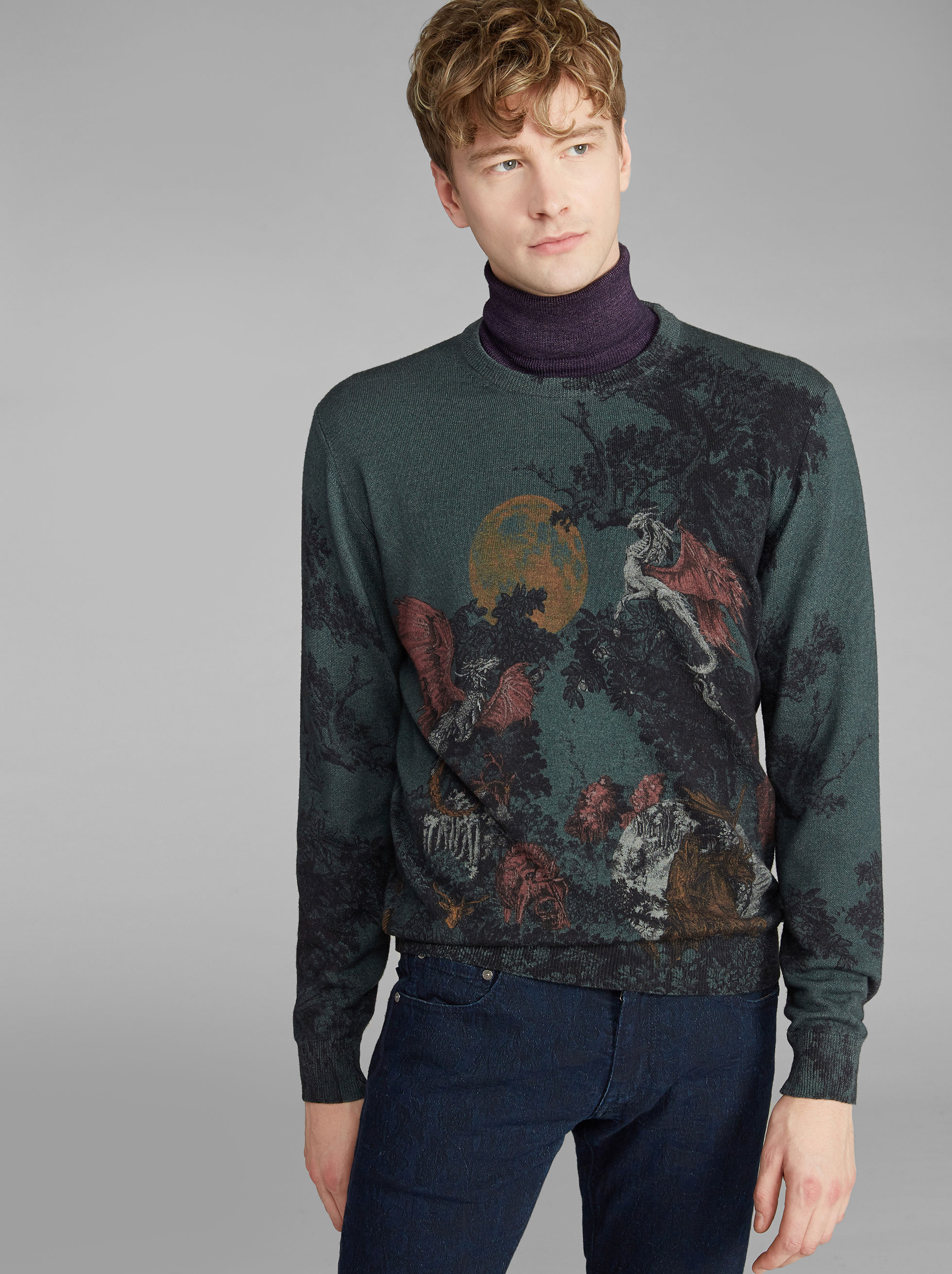 DRAGON-PRINT JUMPER