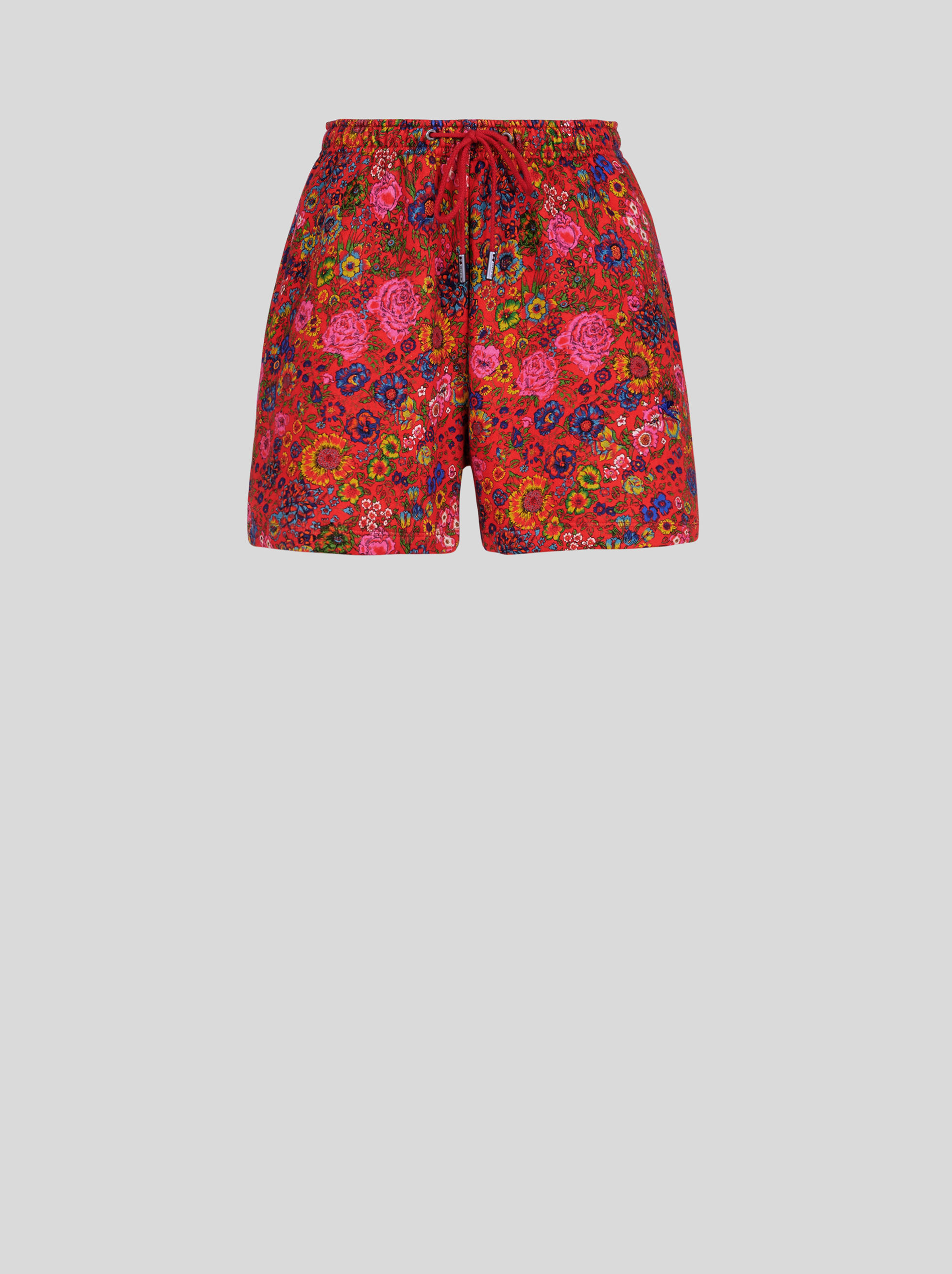 FLORAL PATTERN JERSEY SHORTS