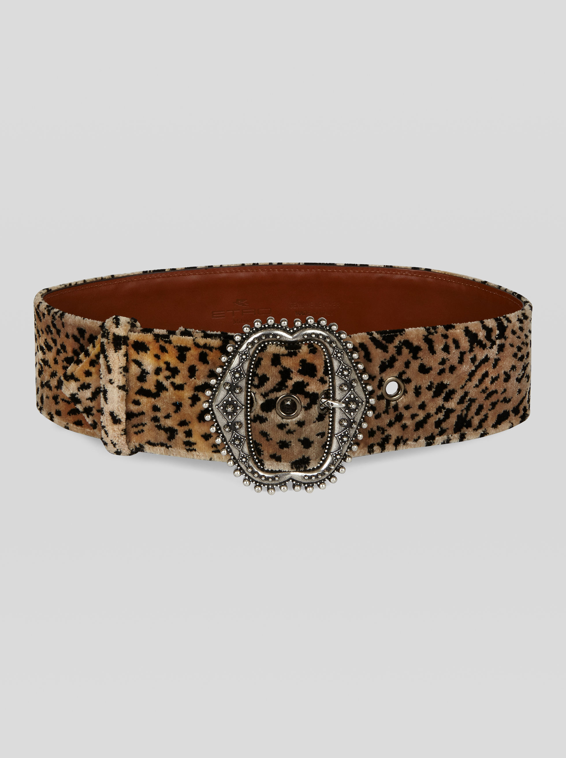 CEINTURE EN VELOURS IMPRIMÉ ANIMAL