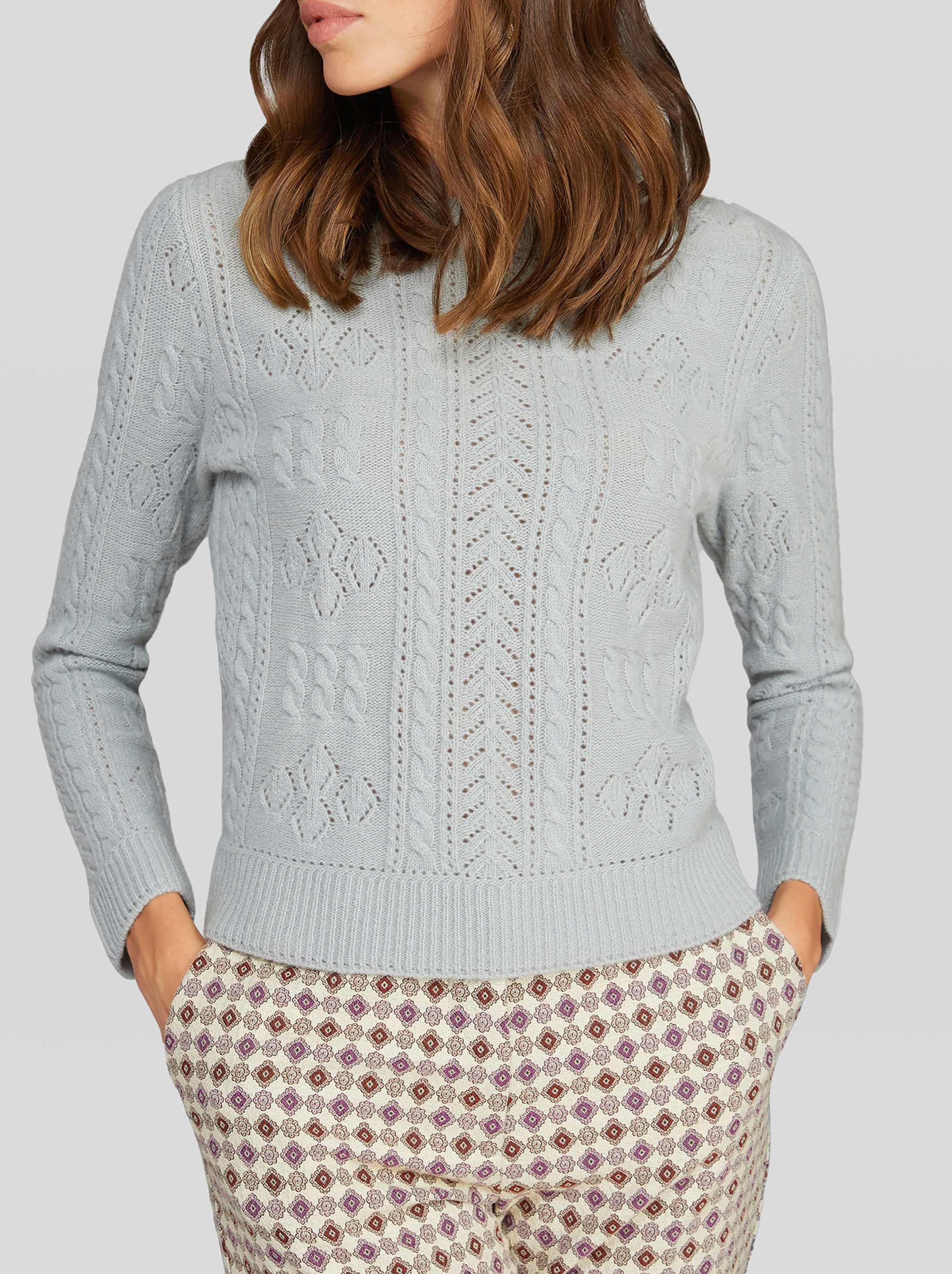 BRAIDED WOOL JUMPER