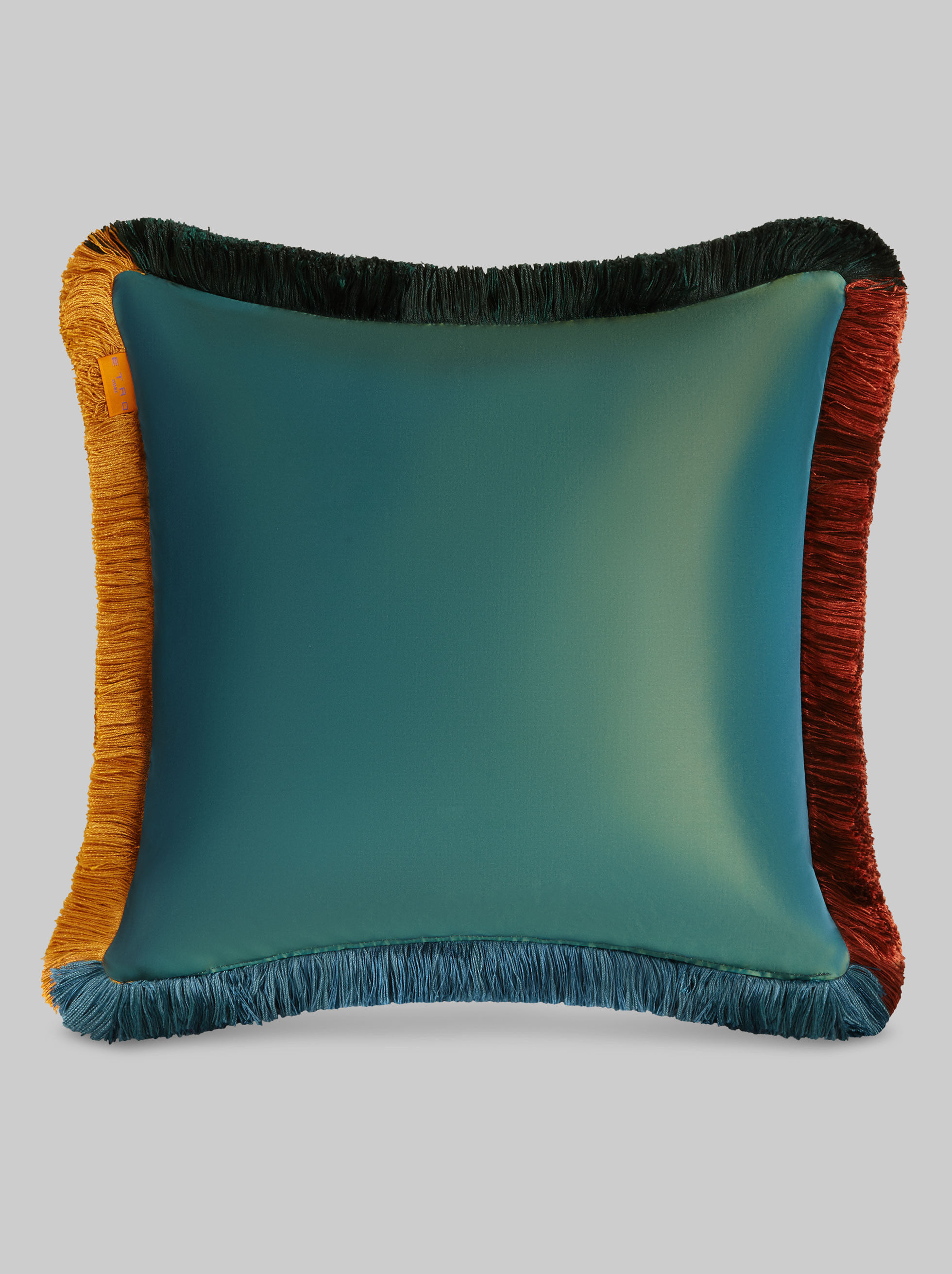 SILK CUSHION WITH ARCHIVE PRINT