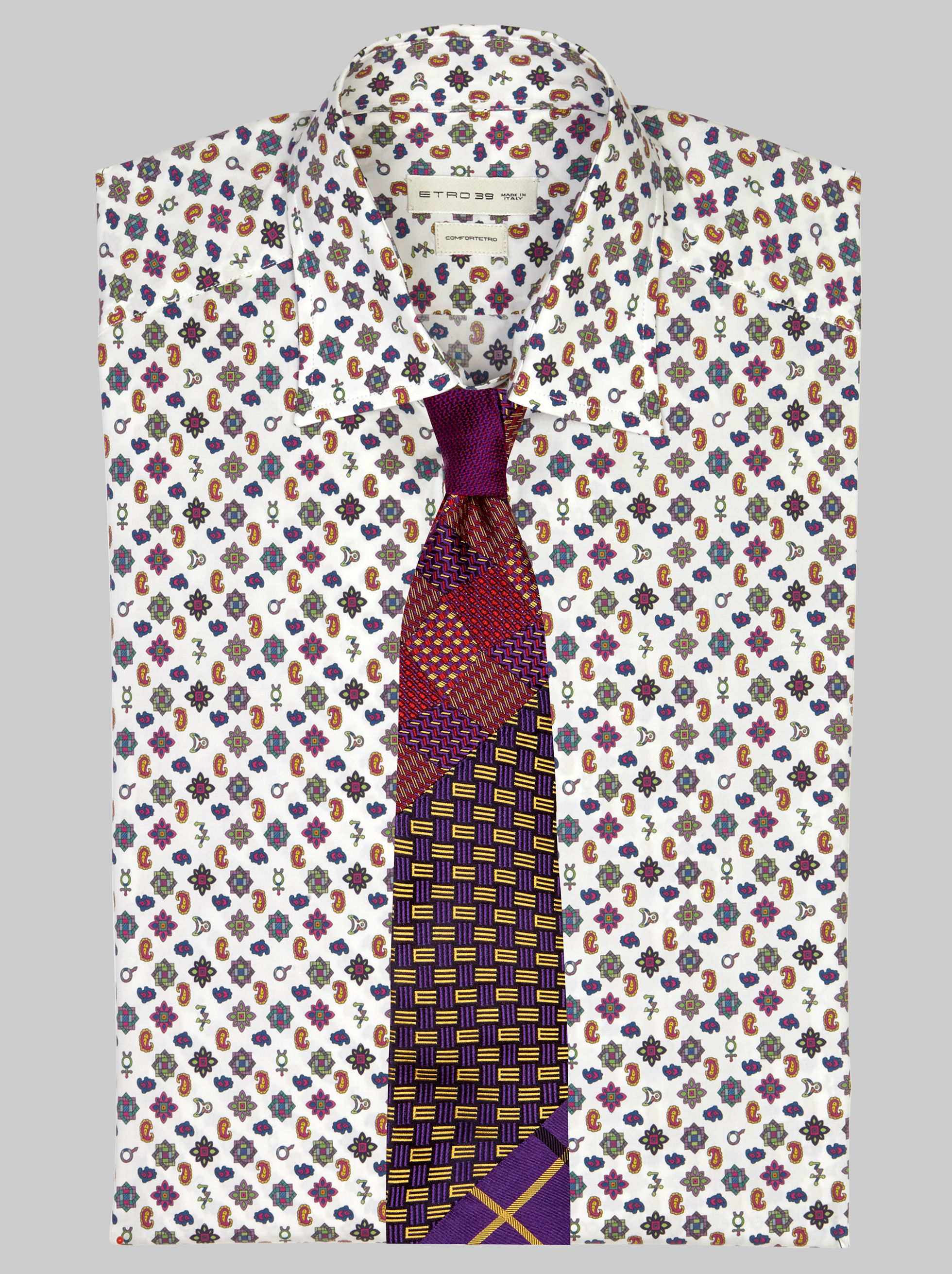 FOUR-FABRIC TIE