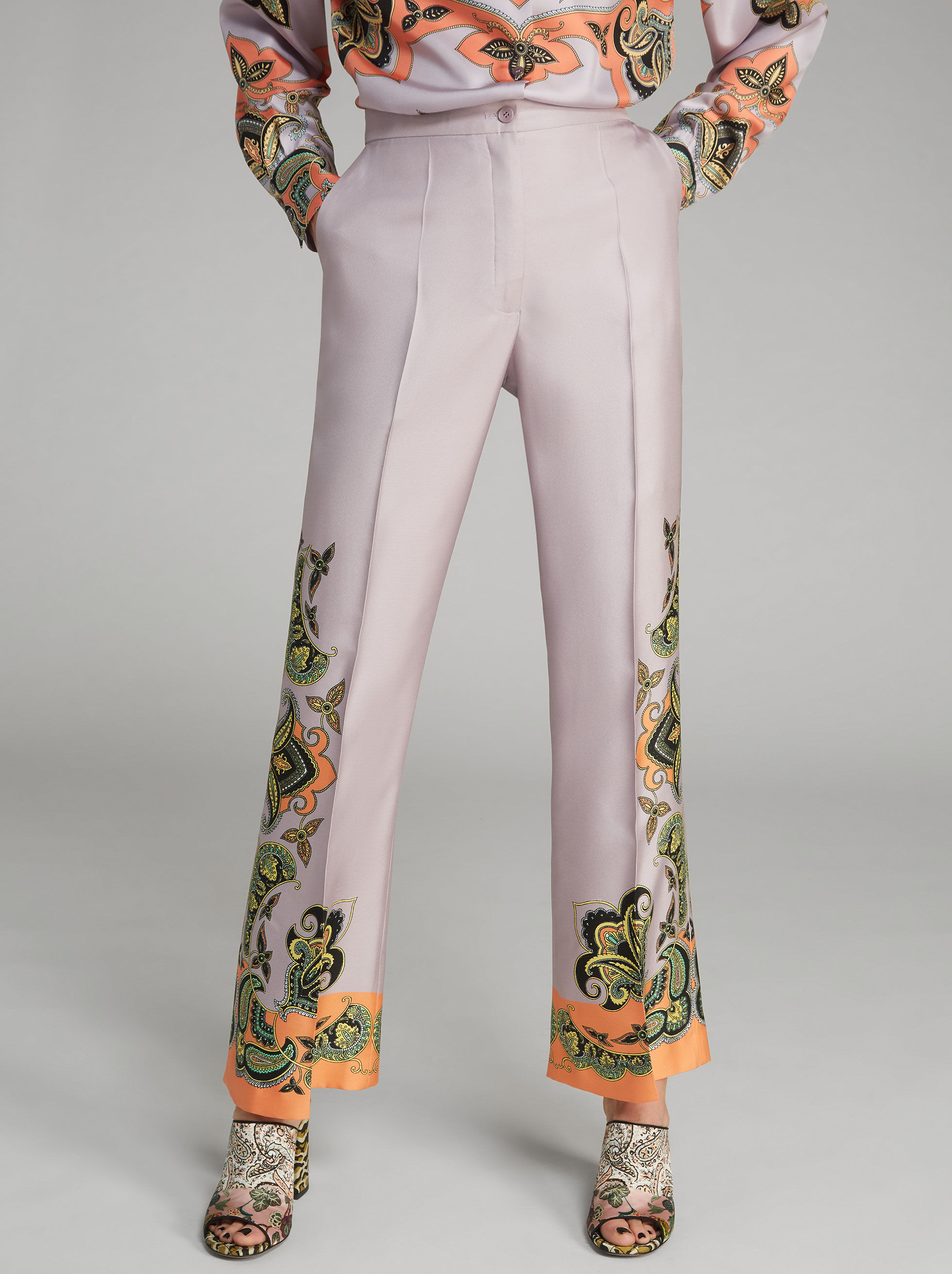 PAISLEY-PRINT TROUSERS