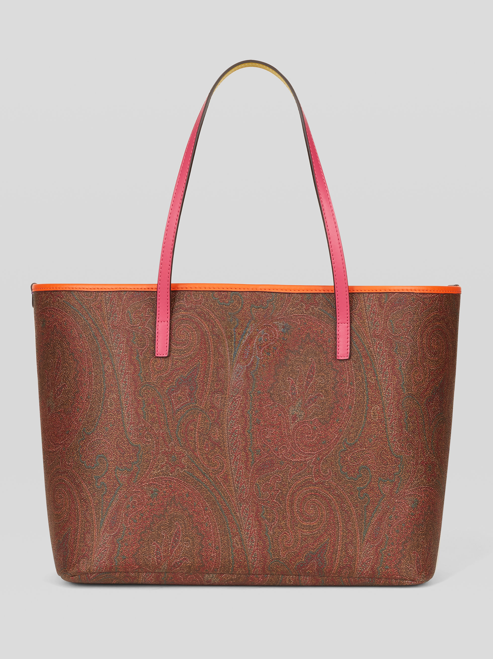 PAISLEY TOTE BAG WITH MULTICOLOURED DETAILS
