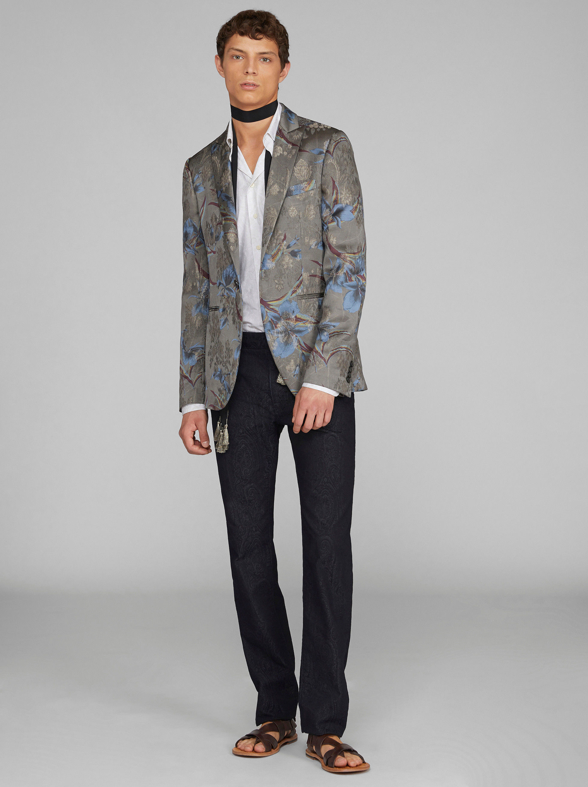 FLORAL PRINT TAILORED JACKET