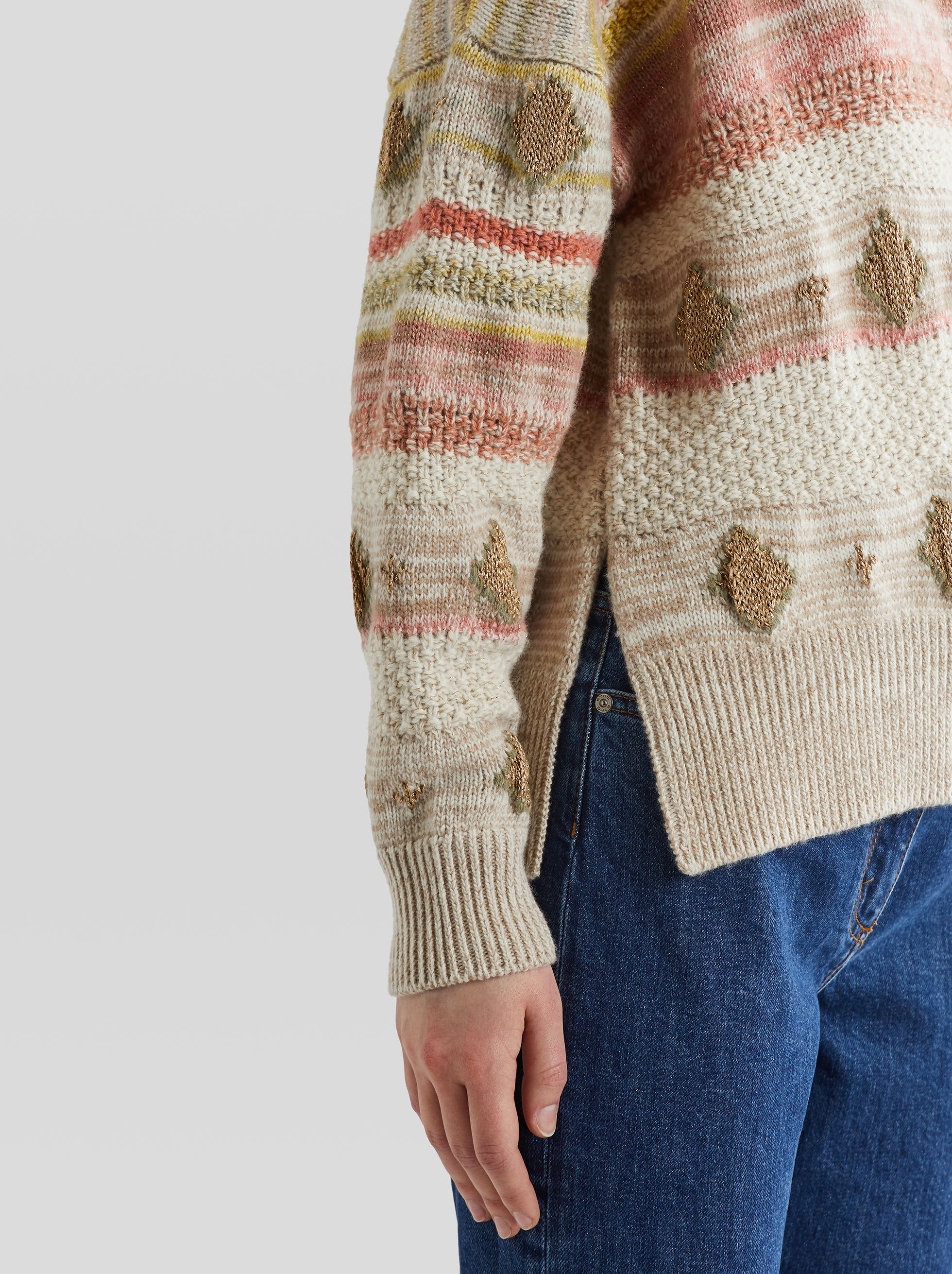 STRIPED JUMPER WITH EMBROIDERY