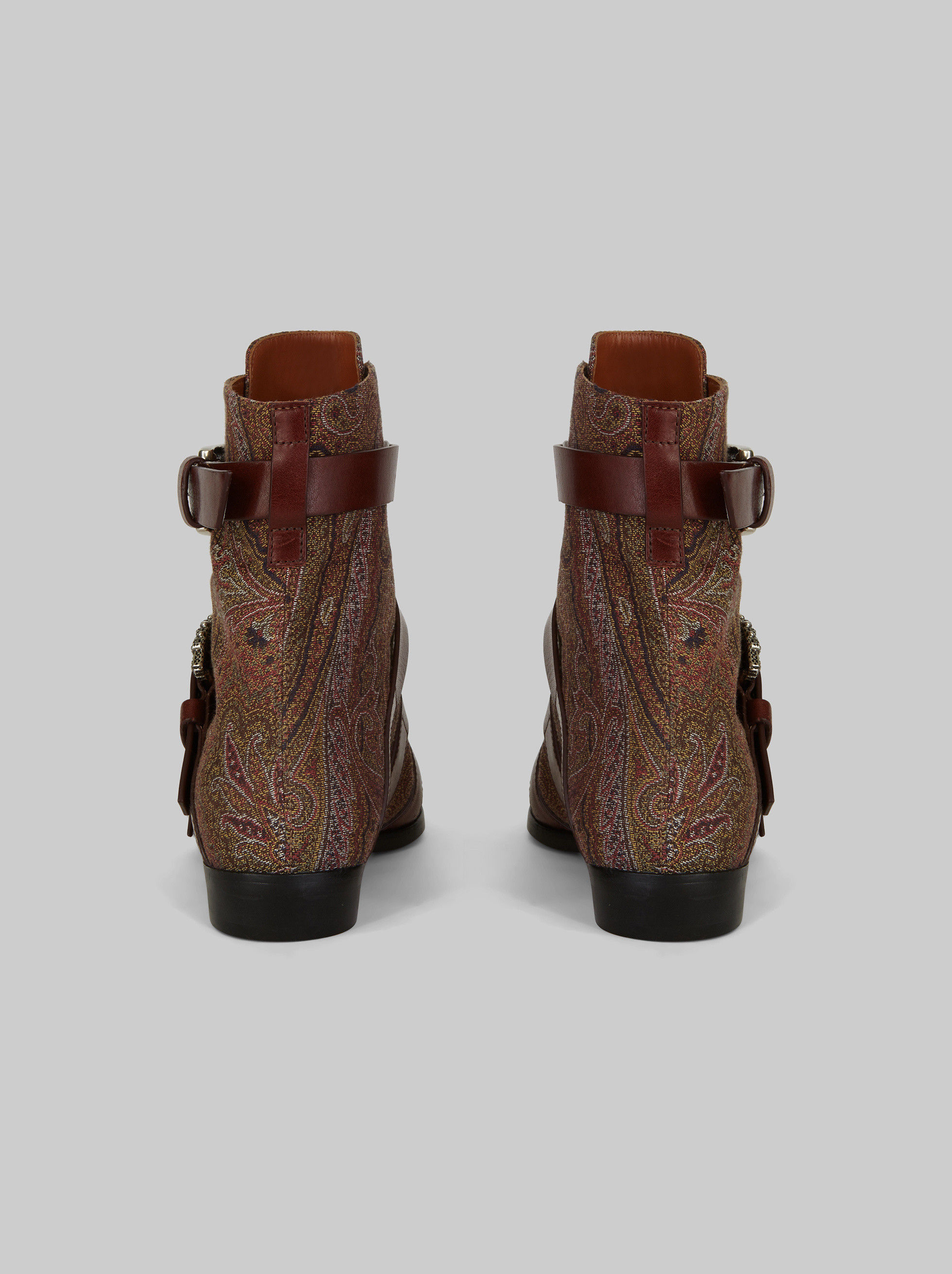 DOUBLE-BUCKLE ANKLE BOOTS