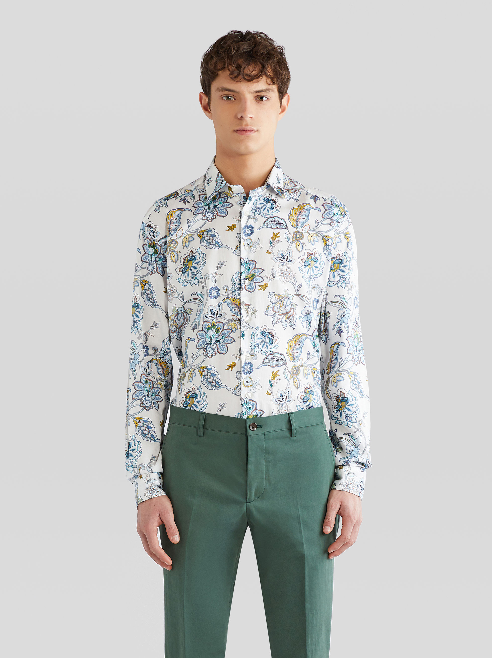FLORAL PATTERN COTTON SHIRT