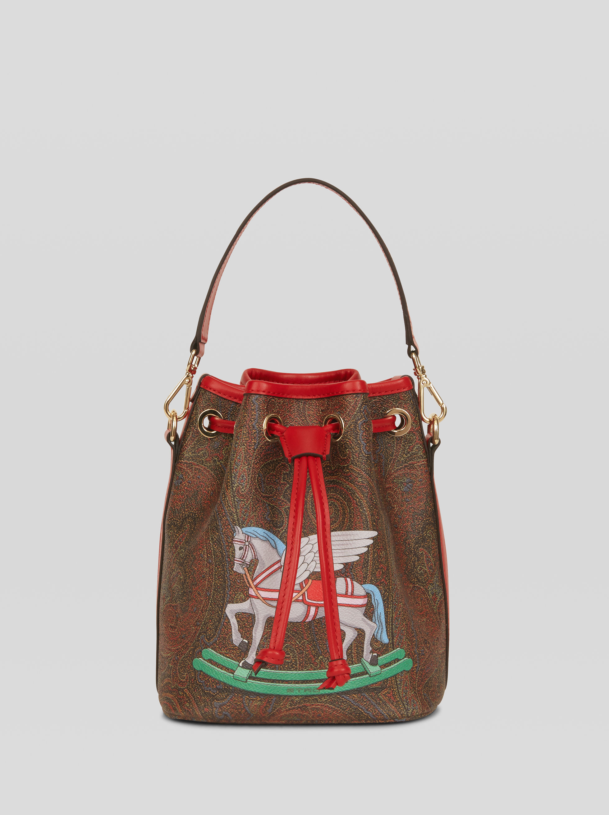 TOY PRINT PAISLEY BUCKET BAG