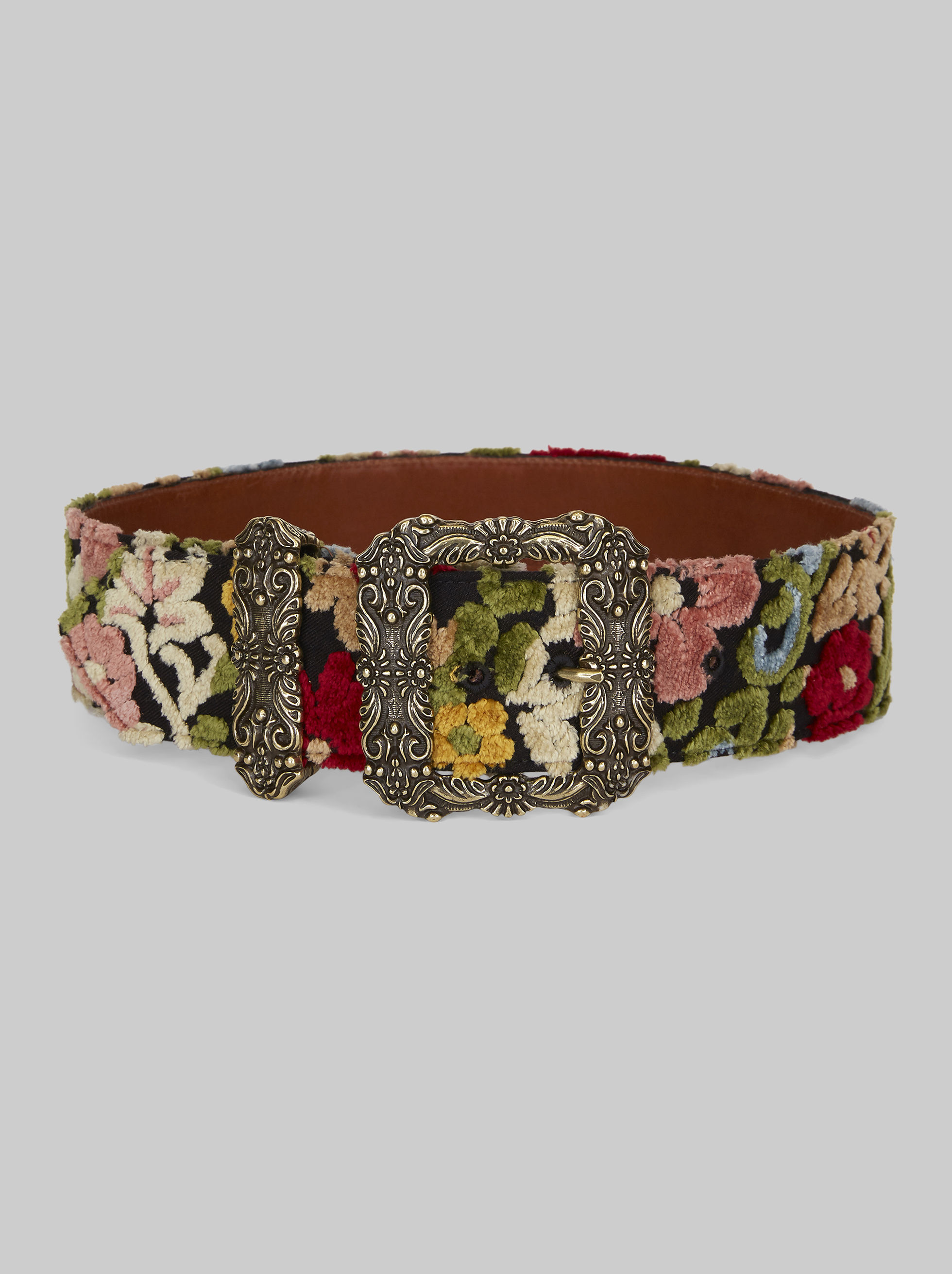 JACQUARD BELT WITH JEWELLED BUCKLE