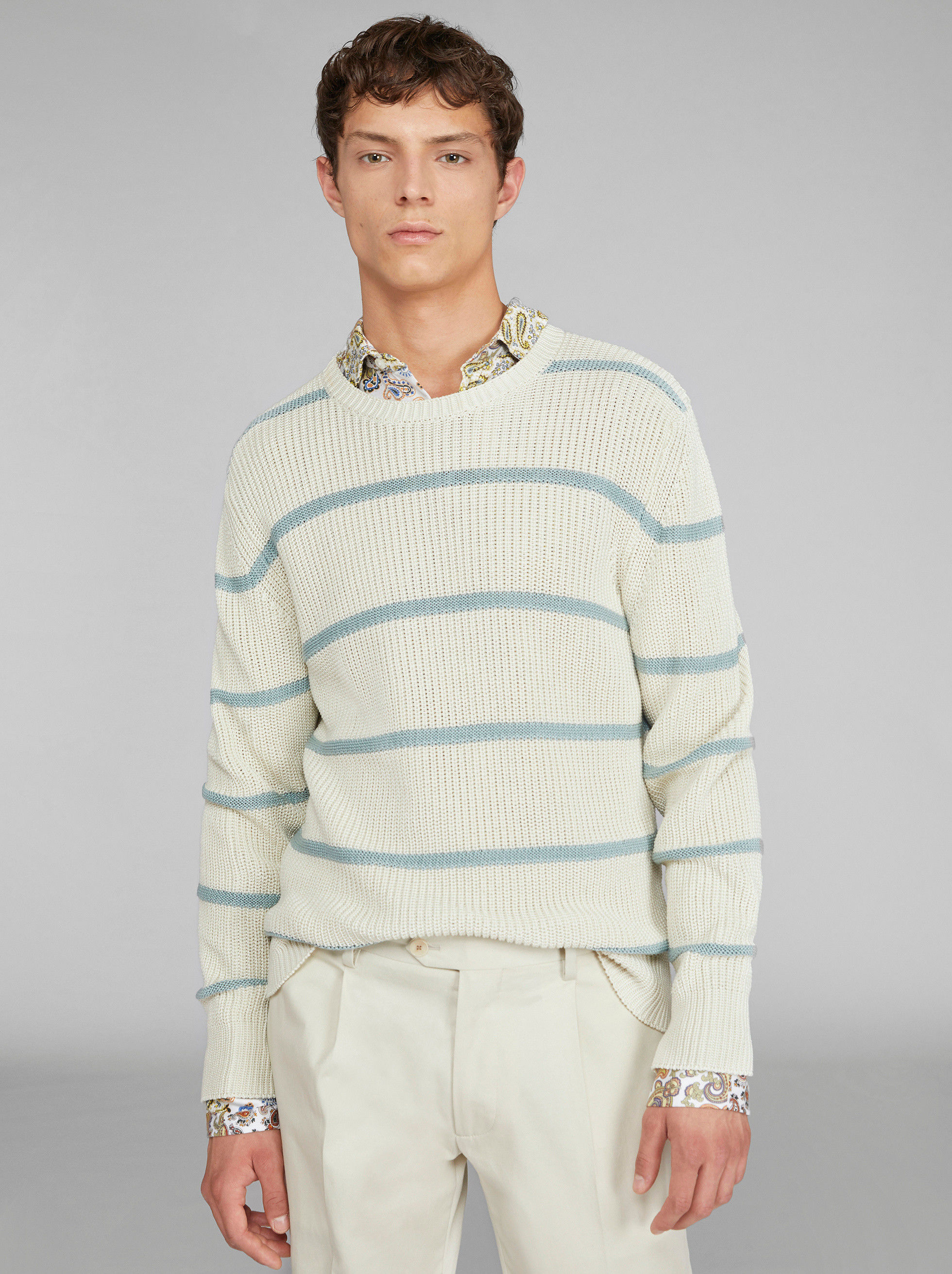 STRIPED CREWNECK JUMPER