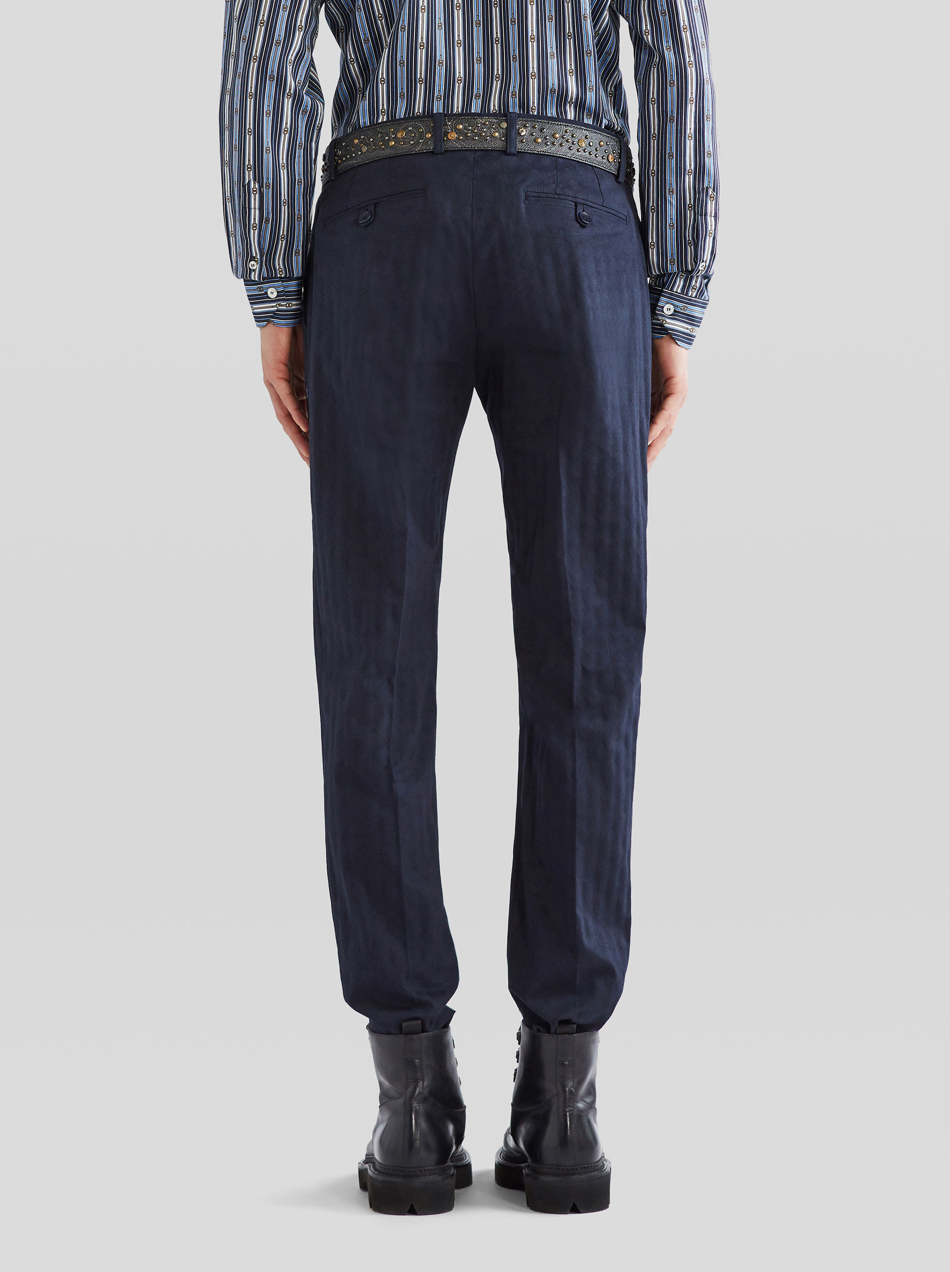 JACQUARD CASUAL TROUSERS WITH GEOMETRIC PATTERN