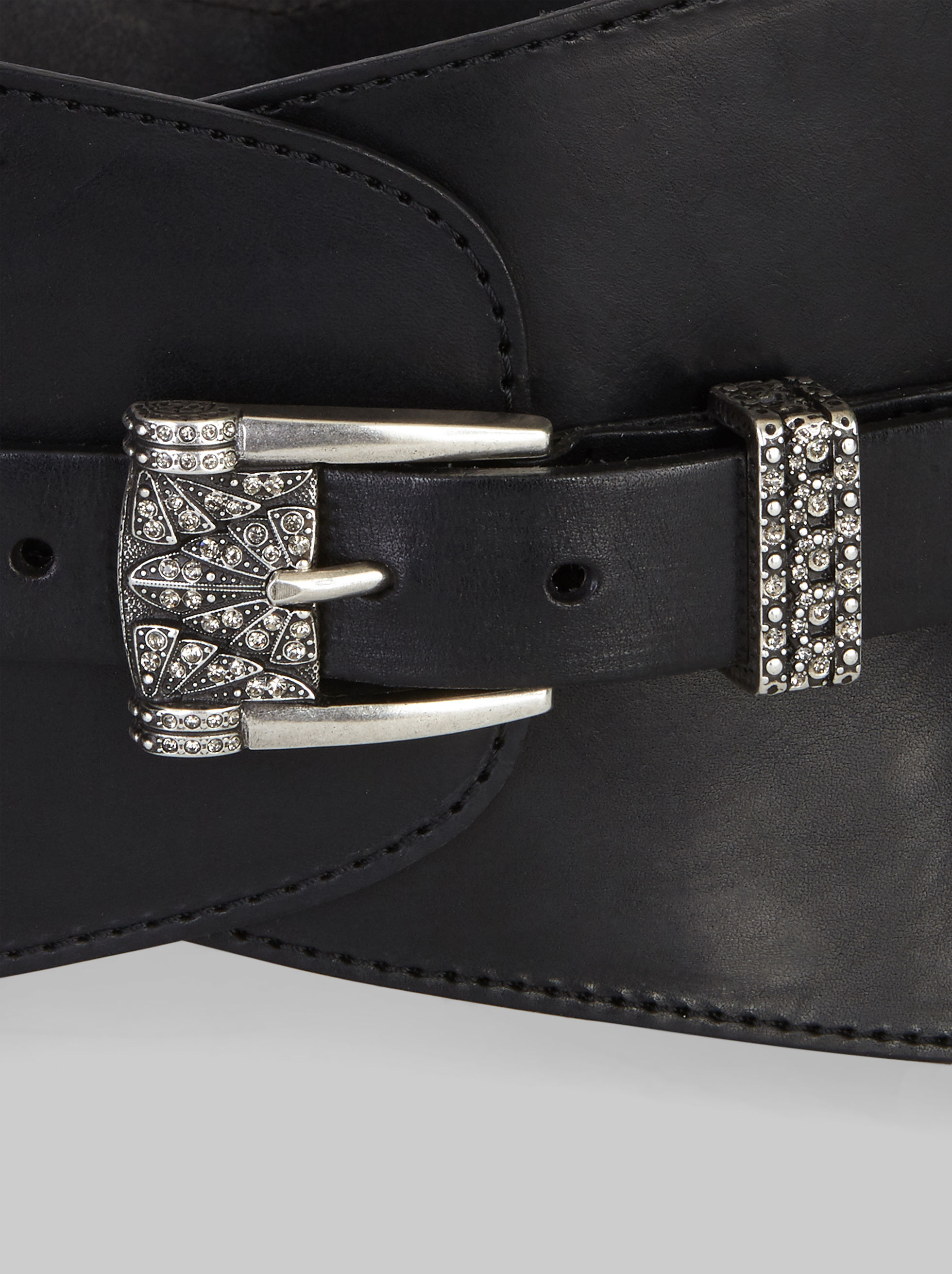BUSTIER BELT WITH JEWELLED BUCKLE