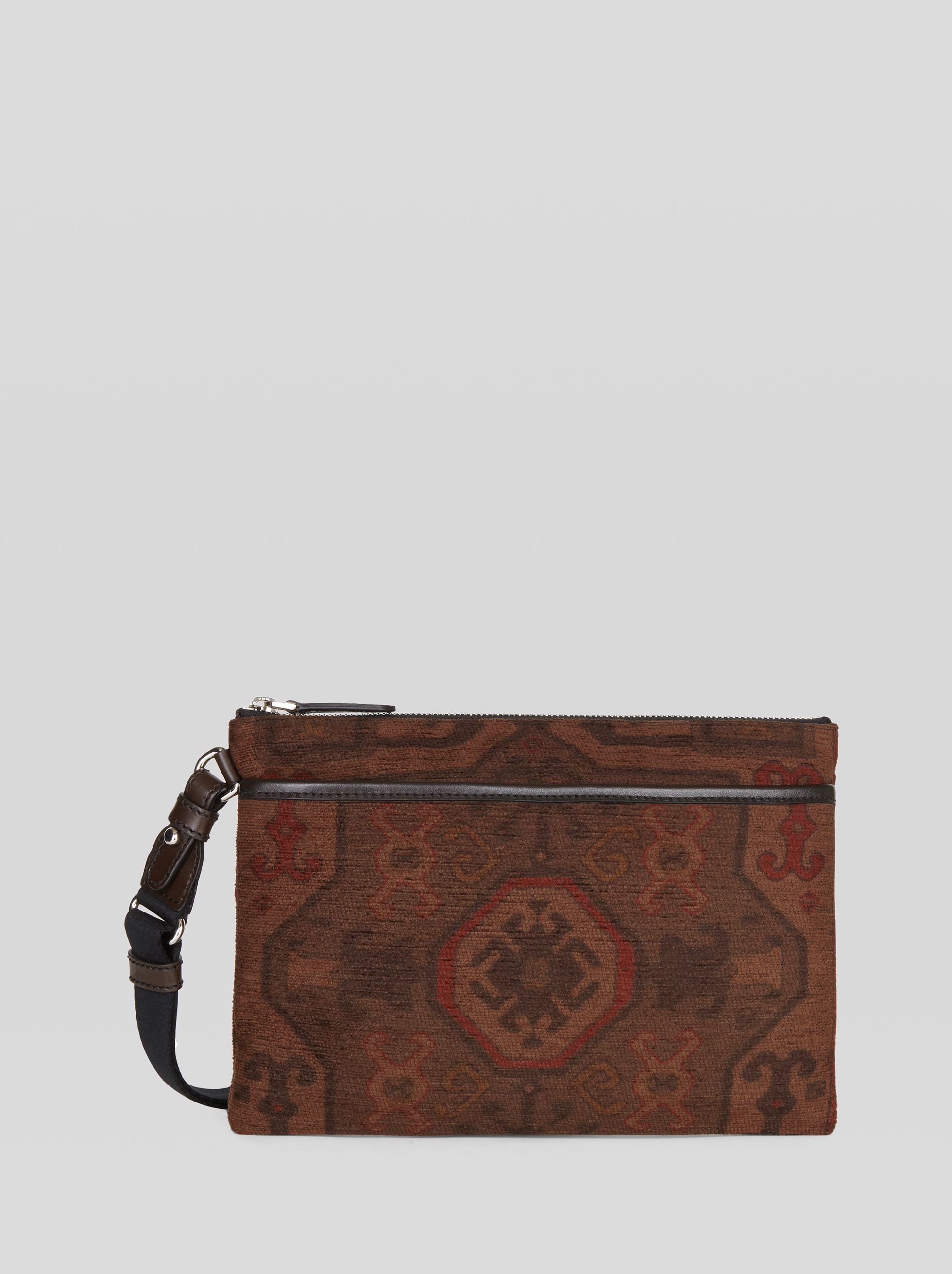 CARPET PRINT FABRIC MESSENGER BAG