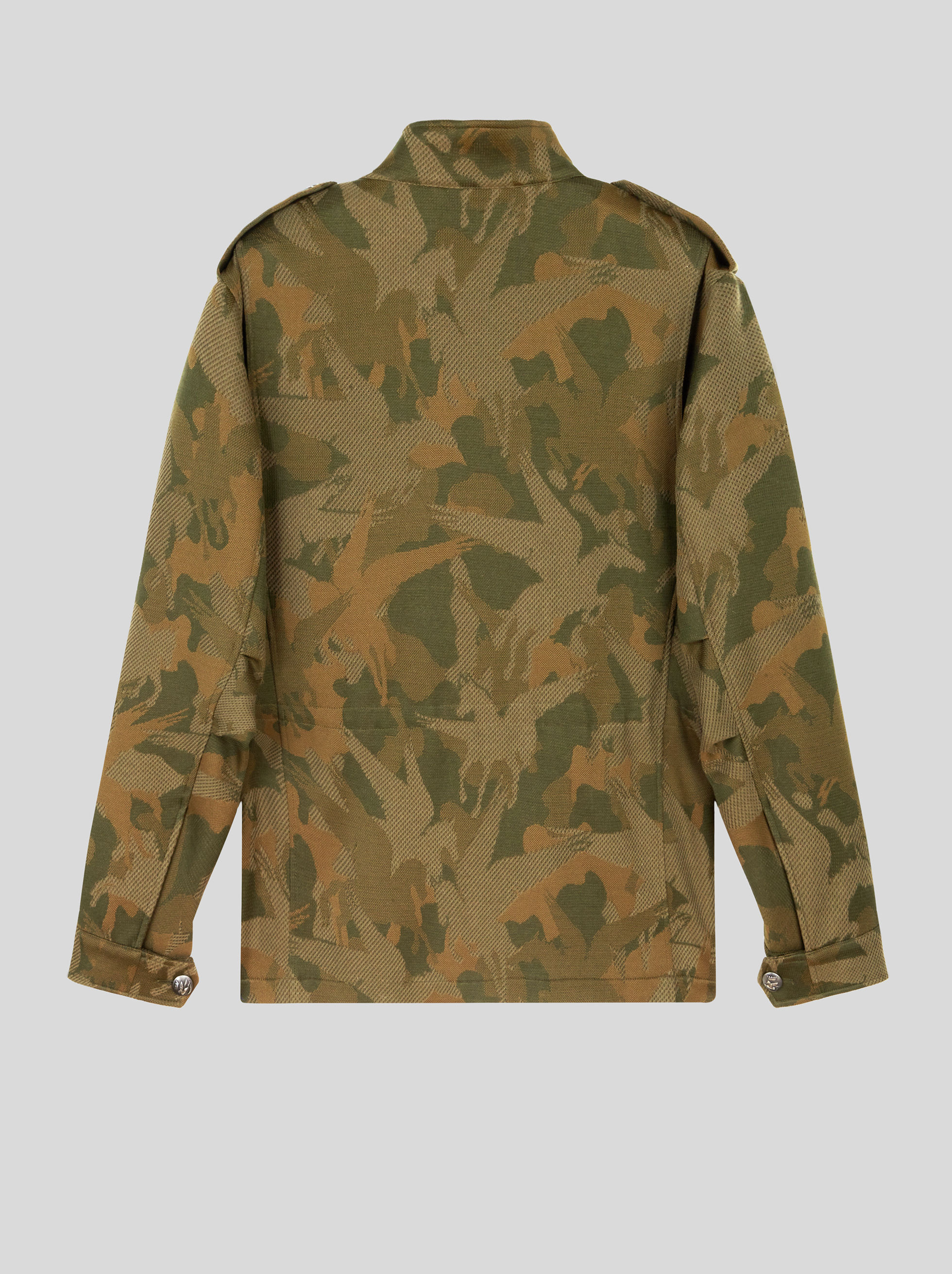 JERSEY JACQUARD SAFARI JACKET