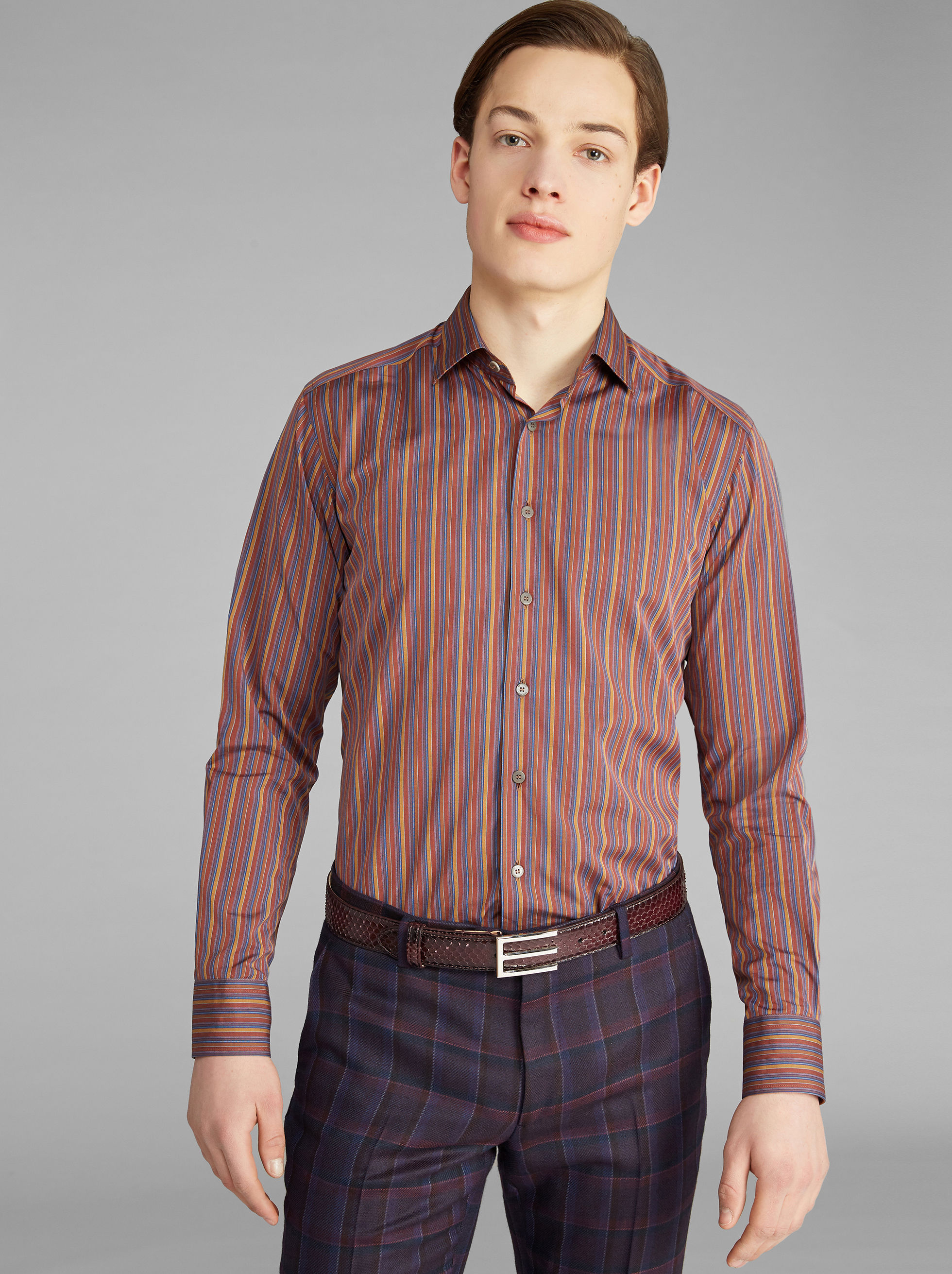 BENETROESSERE STRIPED SHIRT