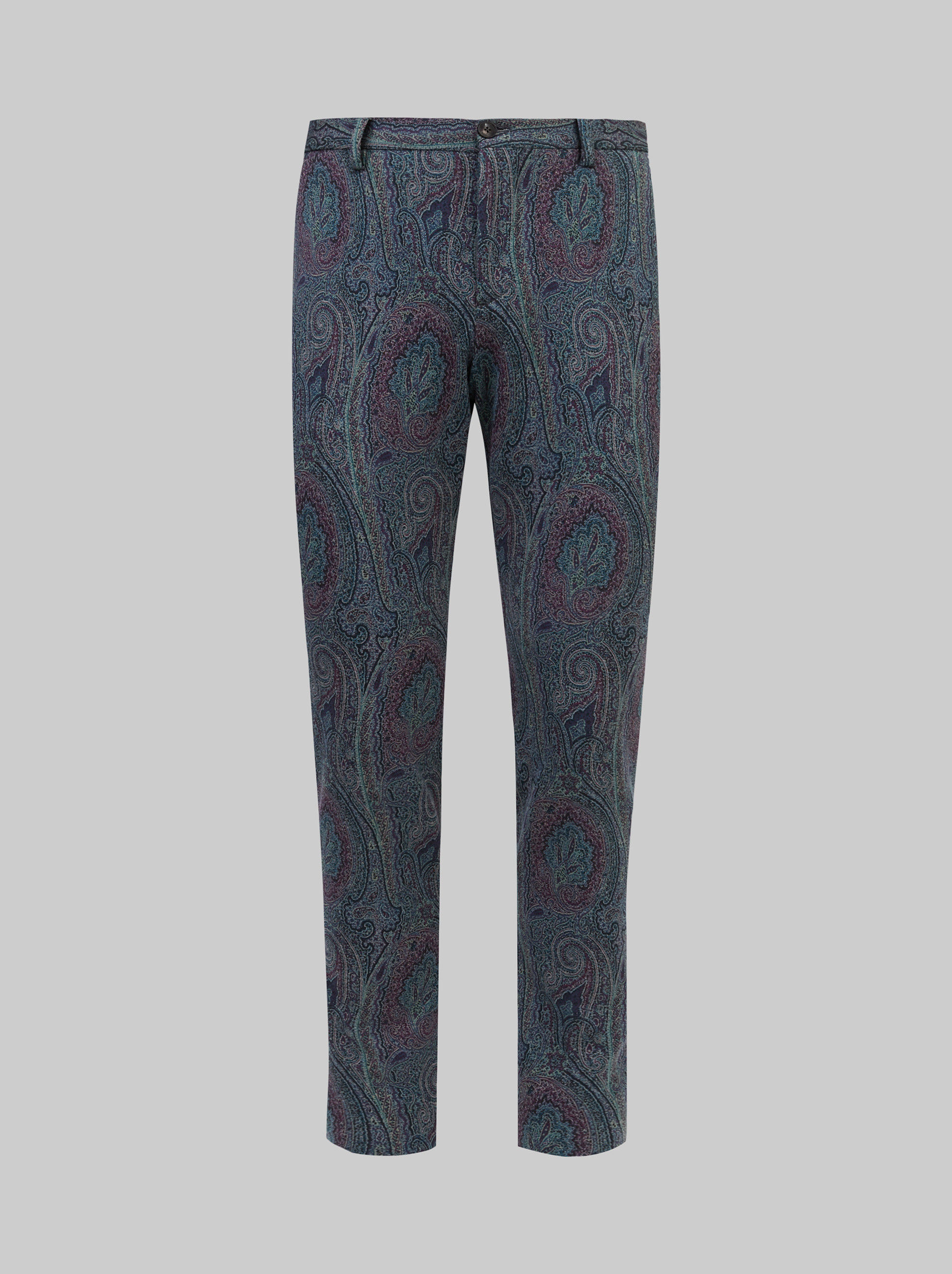 PAISLEY JERSEY TAILORED PANTS