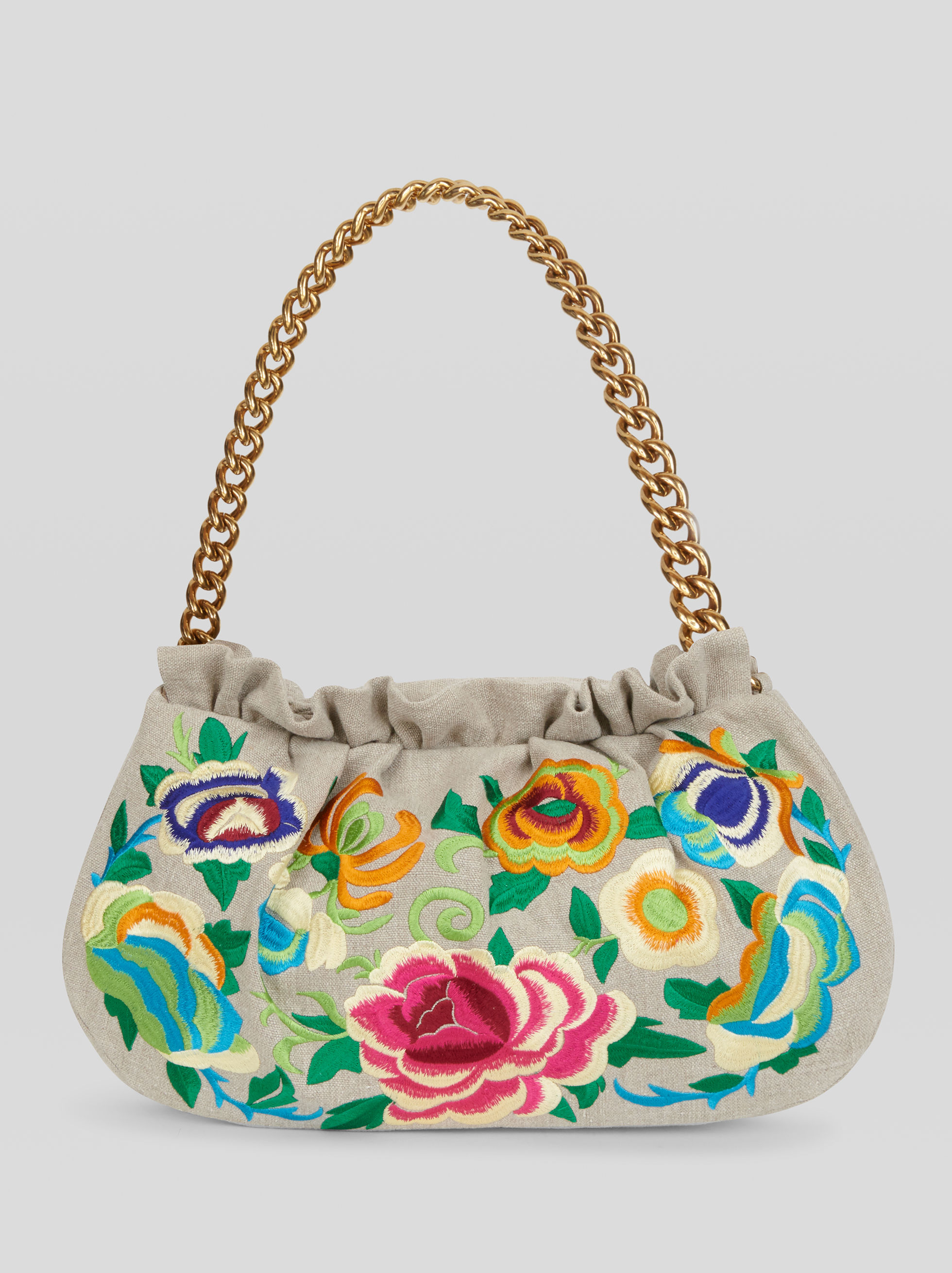 HANDBAG WITH FLORAL EMBROIDERY