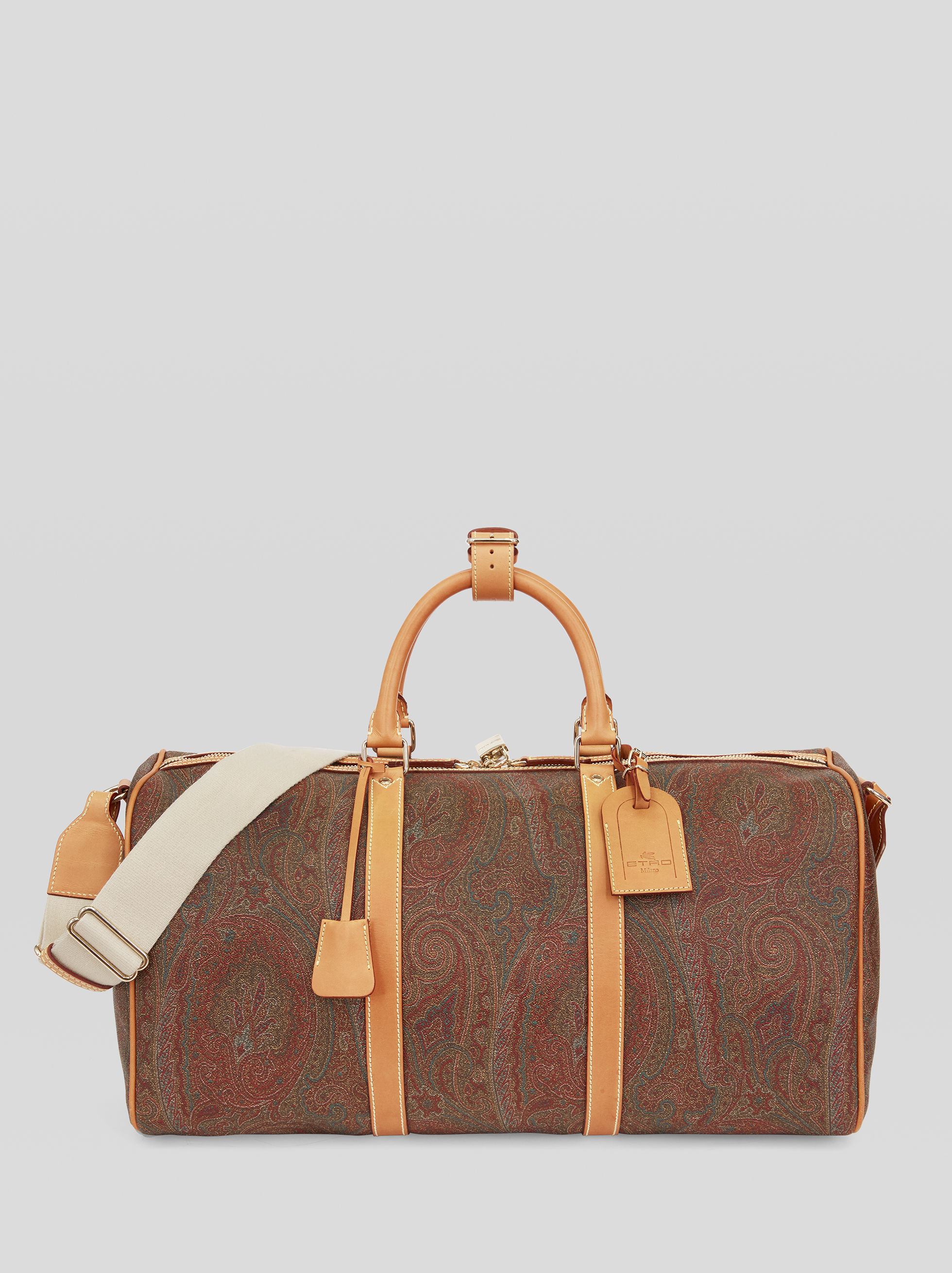 PAISLEY TRAVEL BAG WITH CROSSBODY STRAP