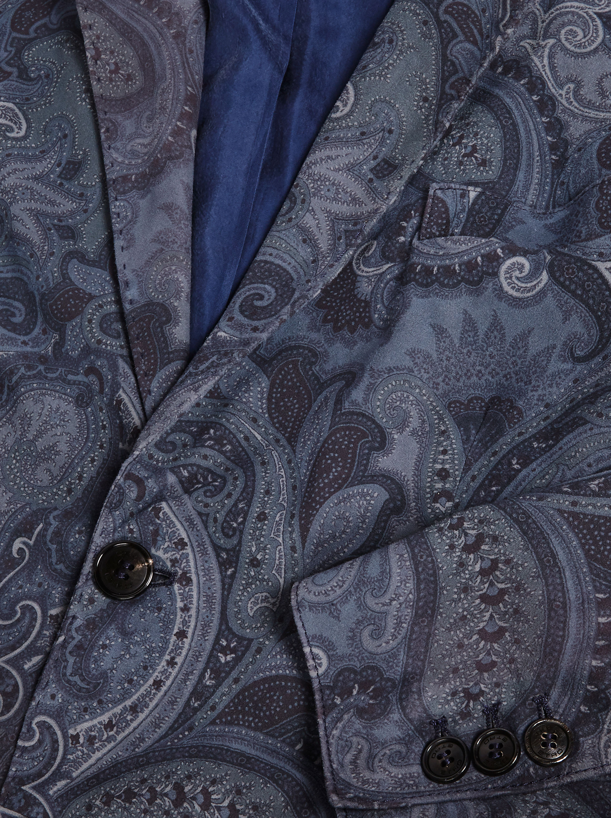PAISLEY TATTO PRINT SUEDE JACKET