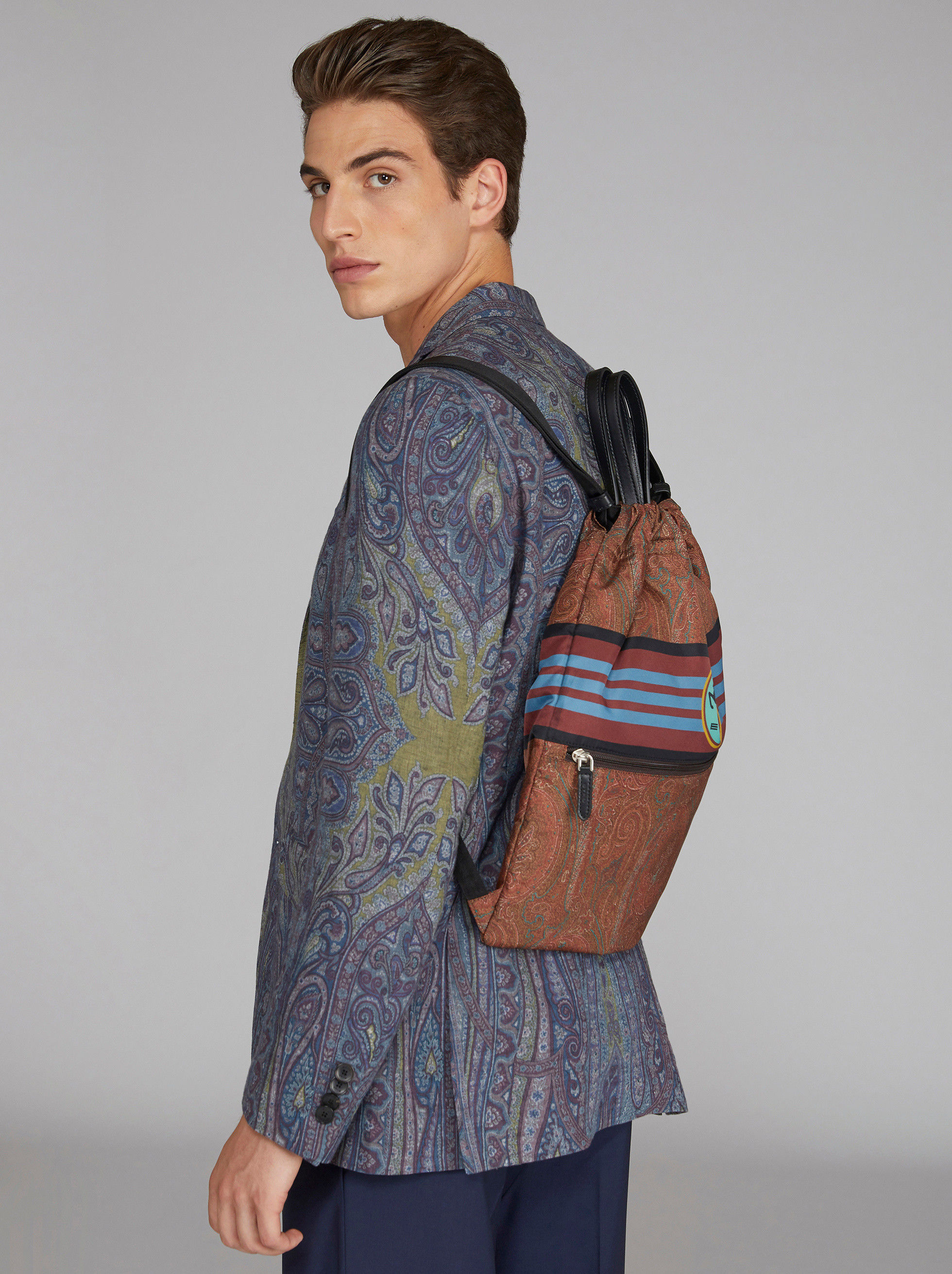 PAISLEY ZAINETRO BACKPACK WITH PEGASO LOGO