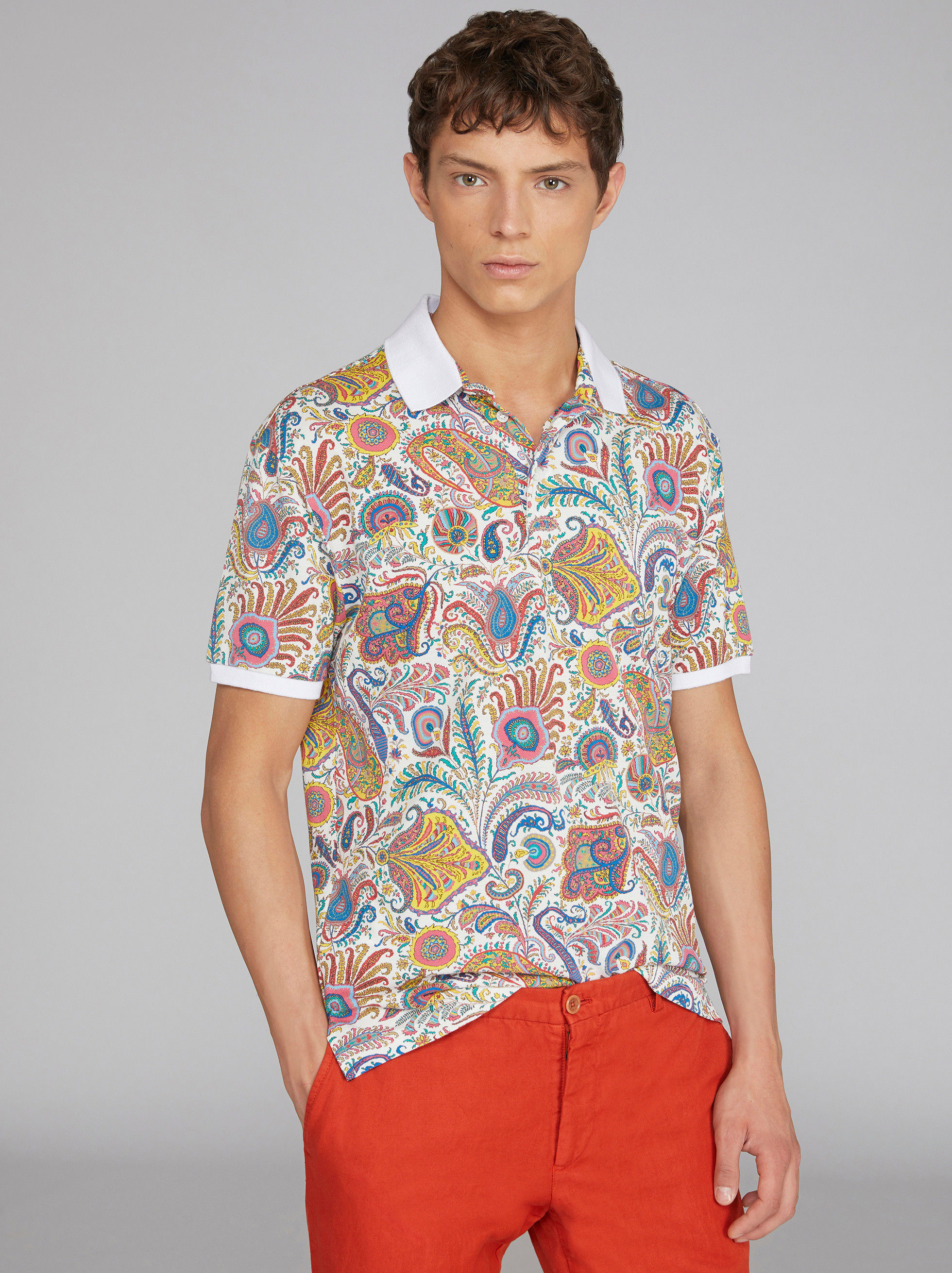 PAISLEY POLO SHIRT