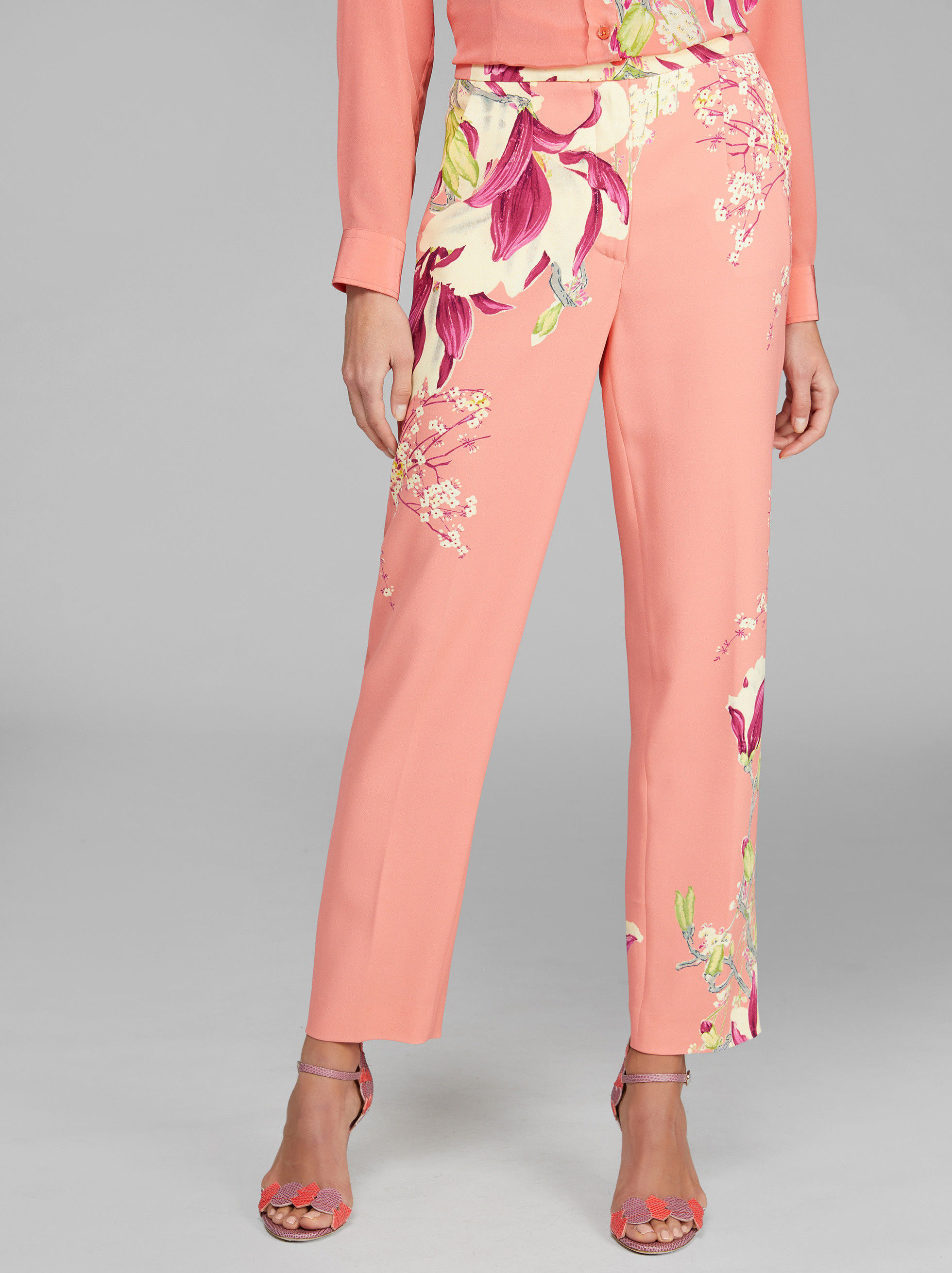 FLORAL PATTERN TROUSERS