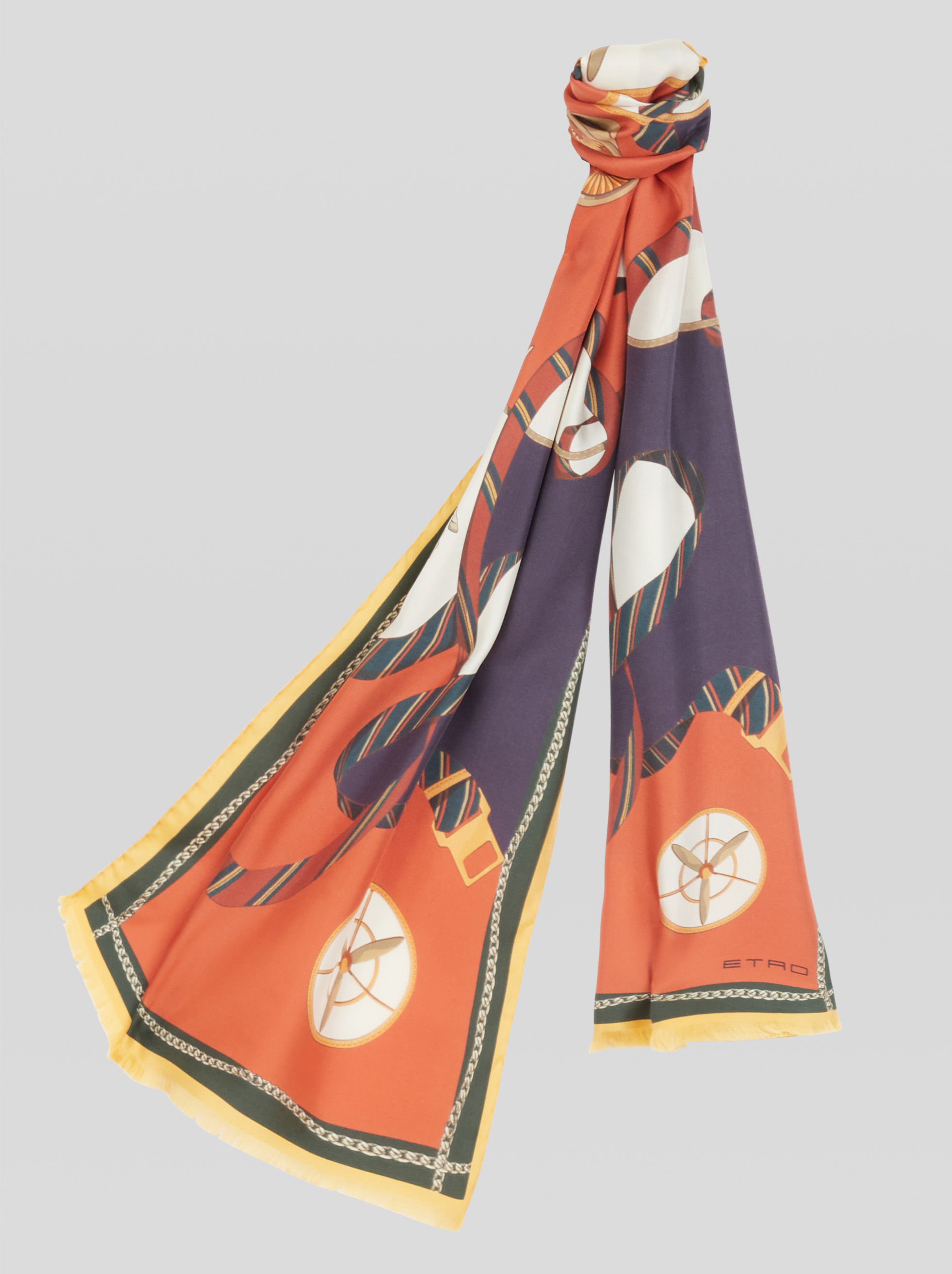 SCARF WITH PEGASO AND REGIMENTAL RIBBONS