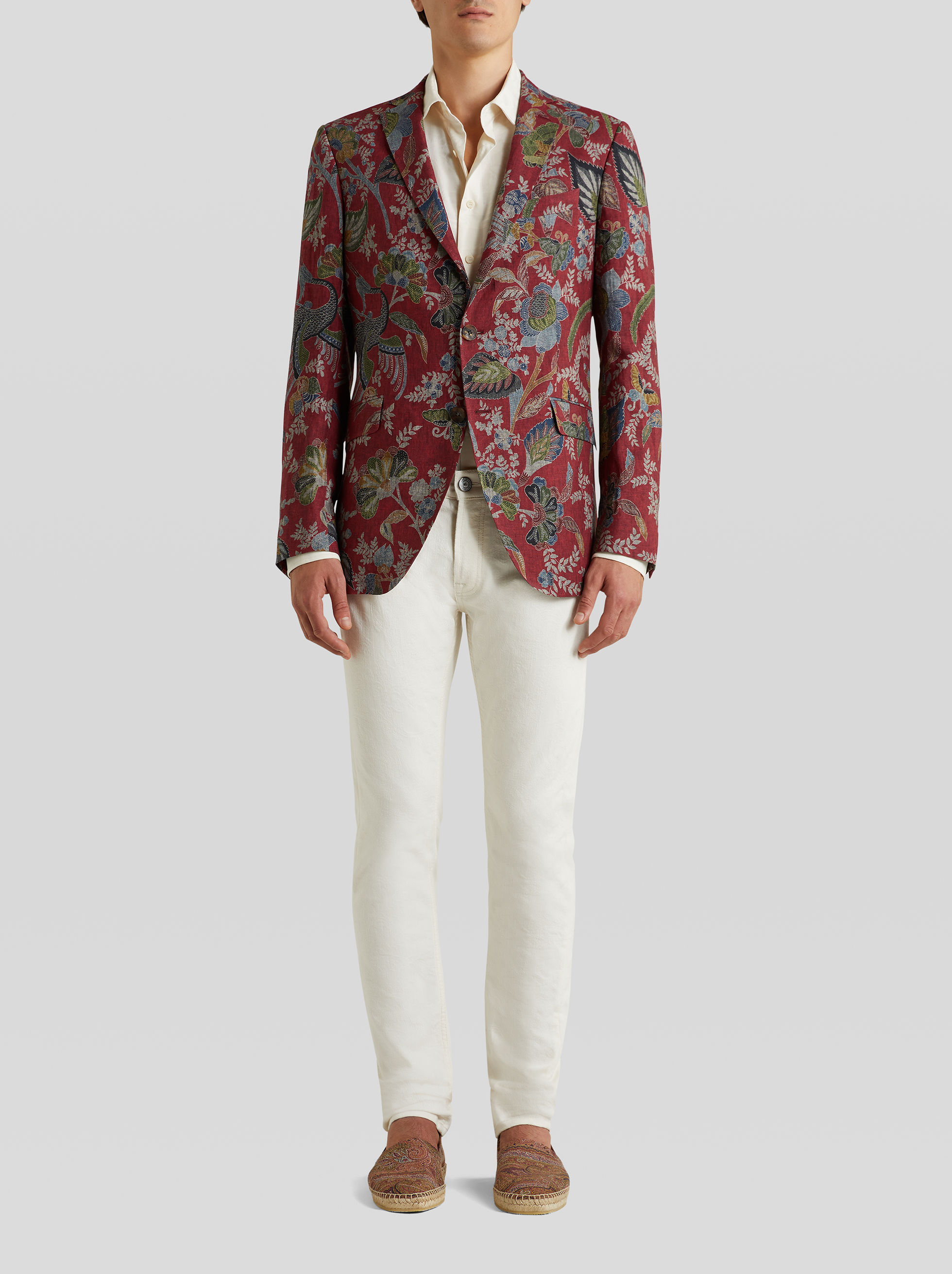 HERON PRINT TAILORED JACKET