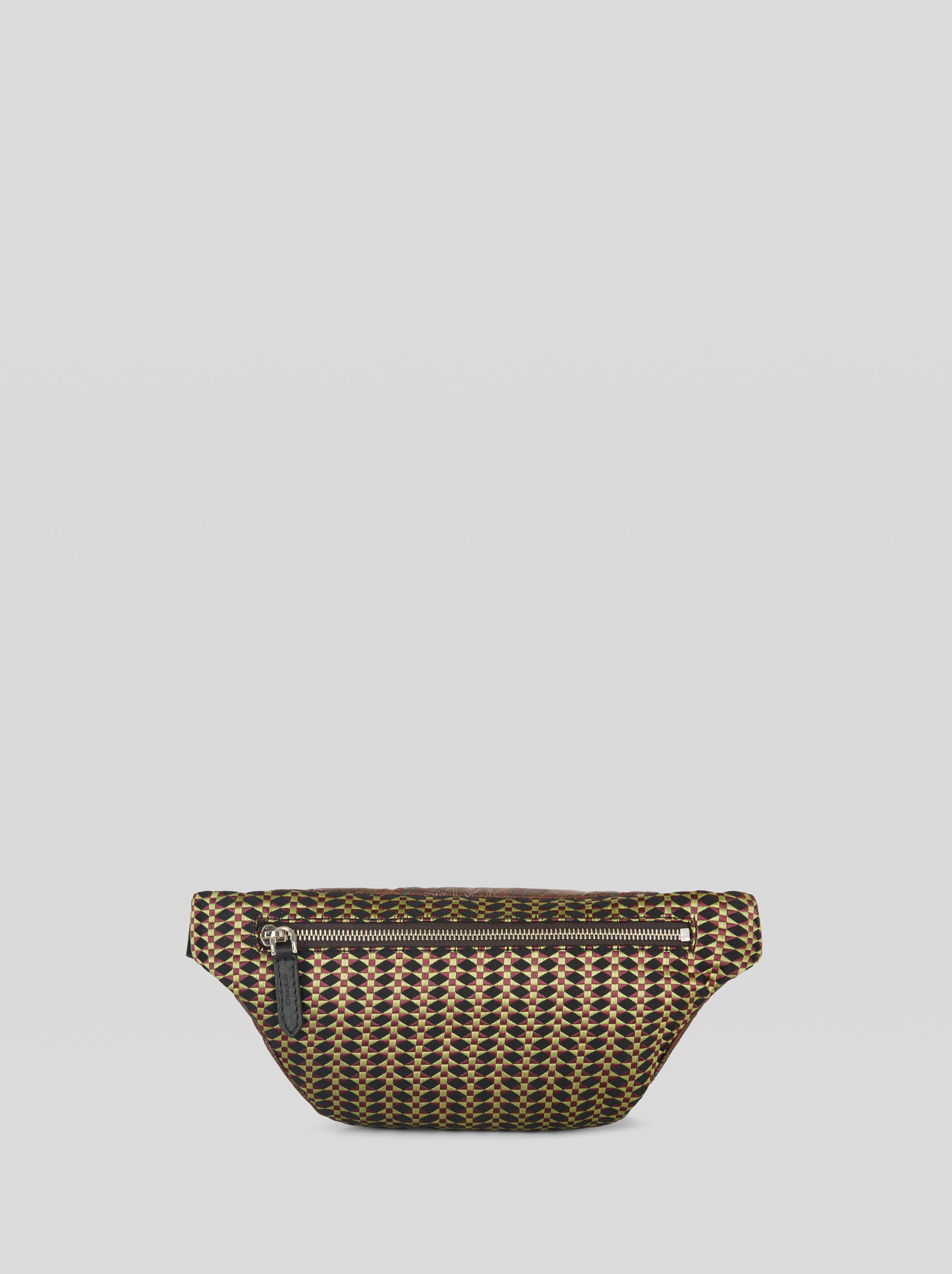 PAISLEY-PRINT BELT BAG WITH JACQUARD DETAILS