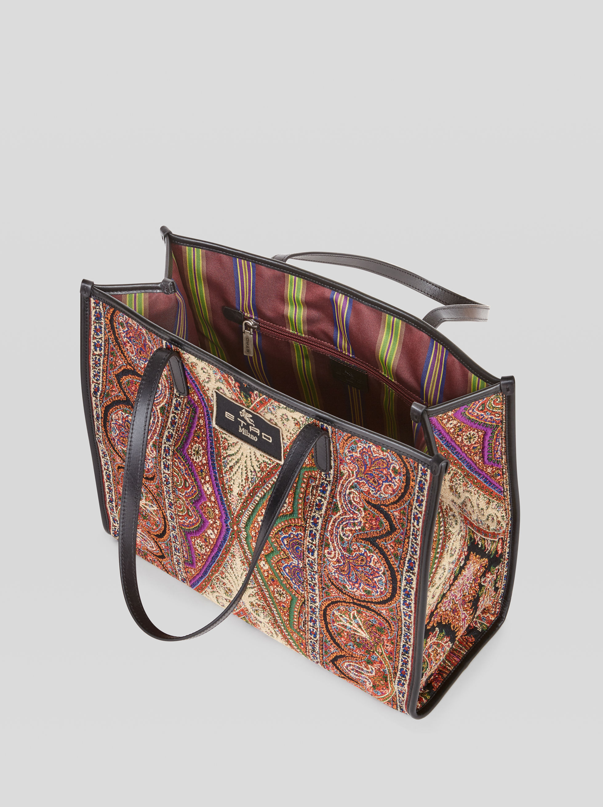 PAISLEY JACQUARD SHOPPING BAG
