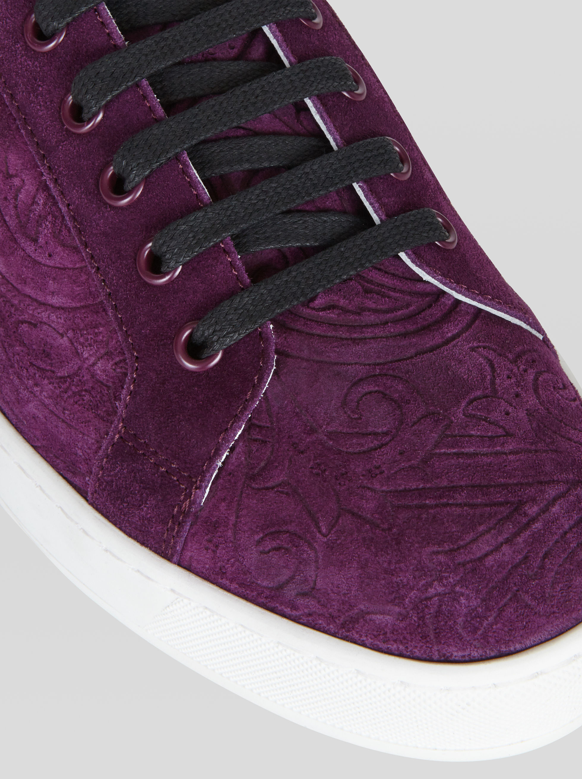 SUEDE SNEAKERS WITH PAISLEY PATTERN